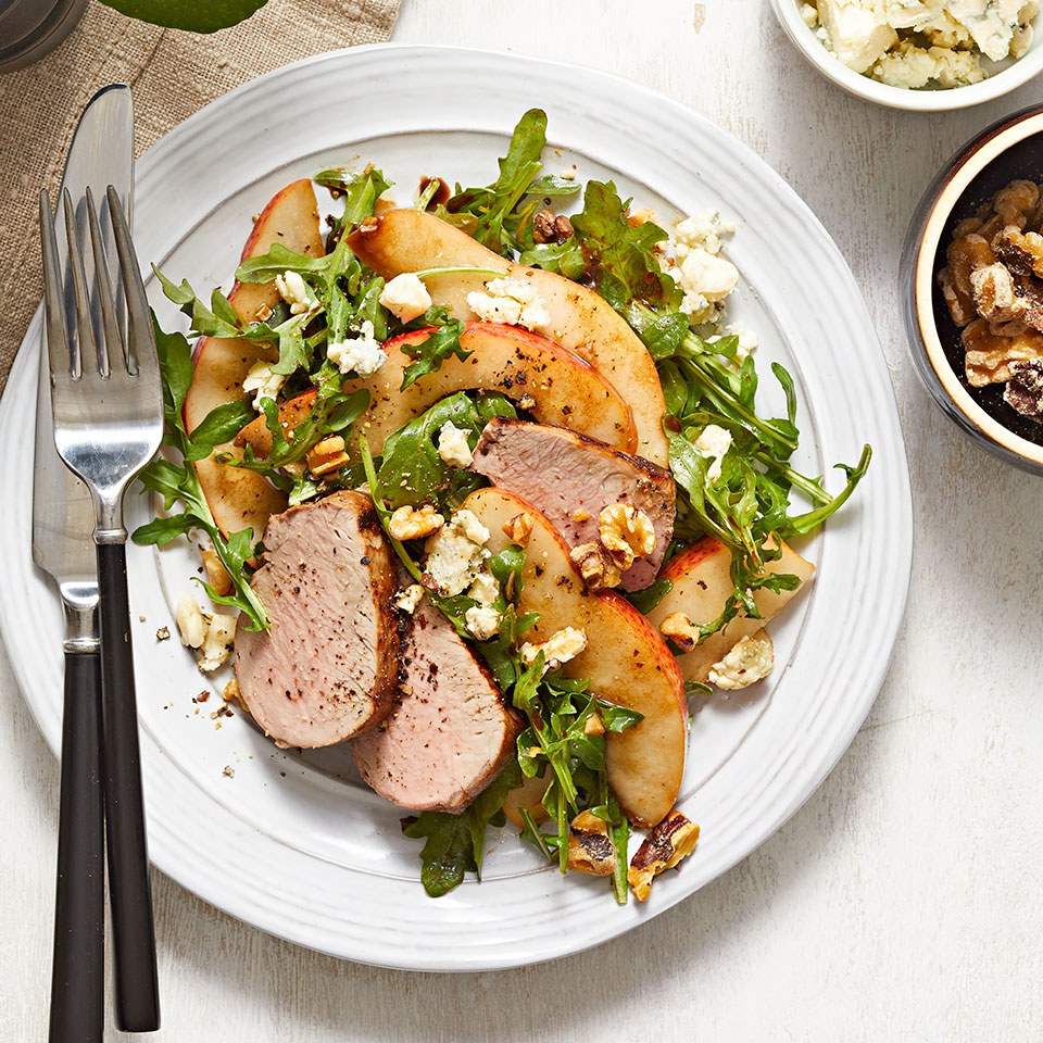Toasted walnuts and roasted pork tenderloin make this elegant salad worthy of company, yet it's easy enough to prepare on a weeknight!