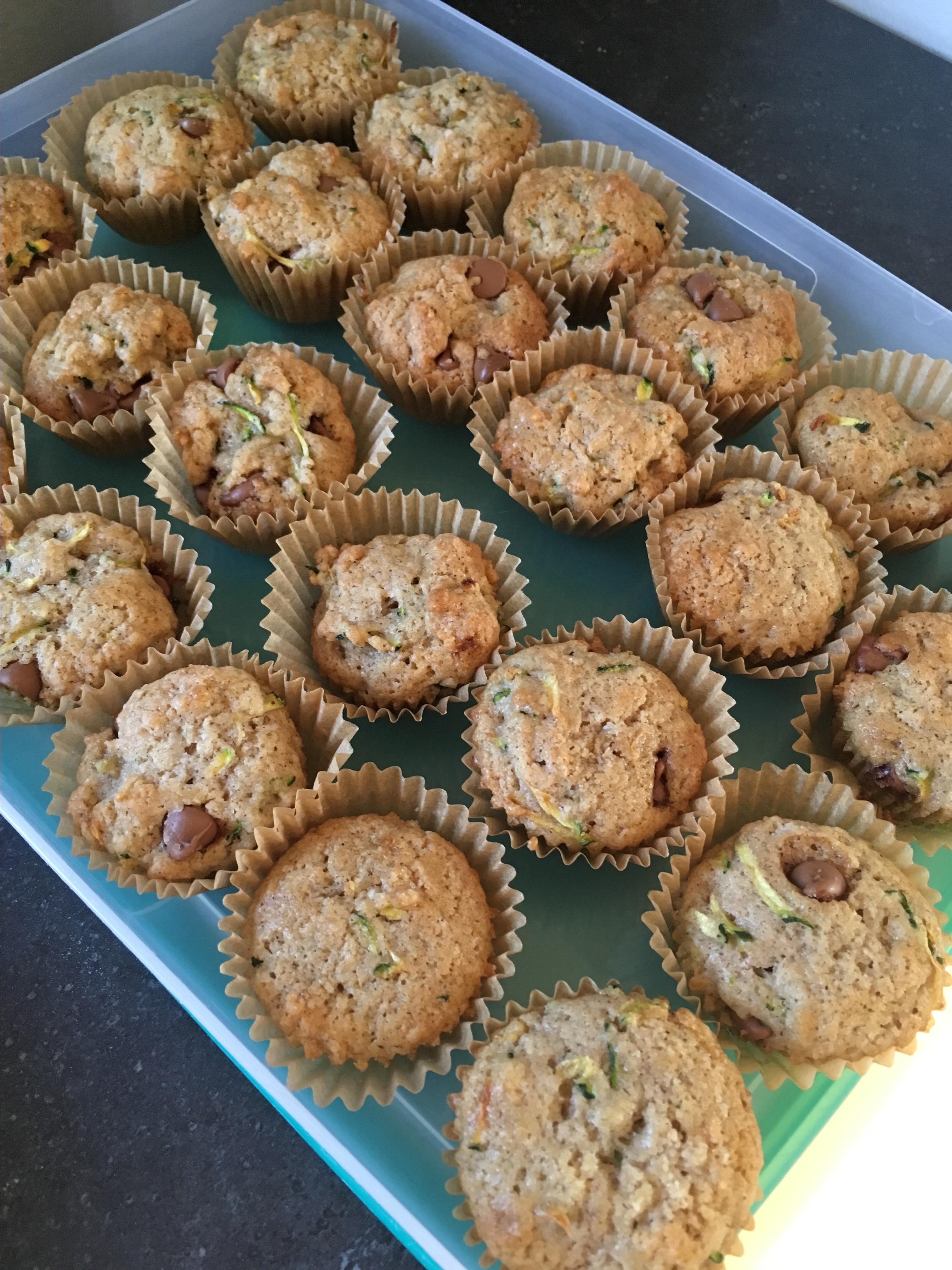 Zucchini-Chocolate Chip Muffins Brenda C. Homan