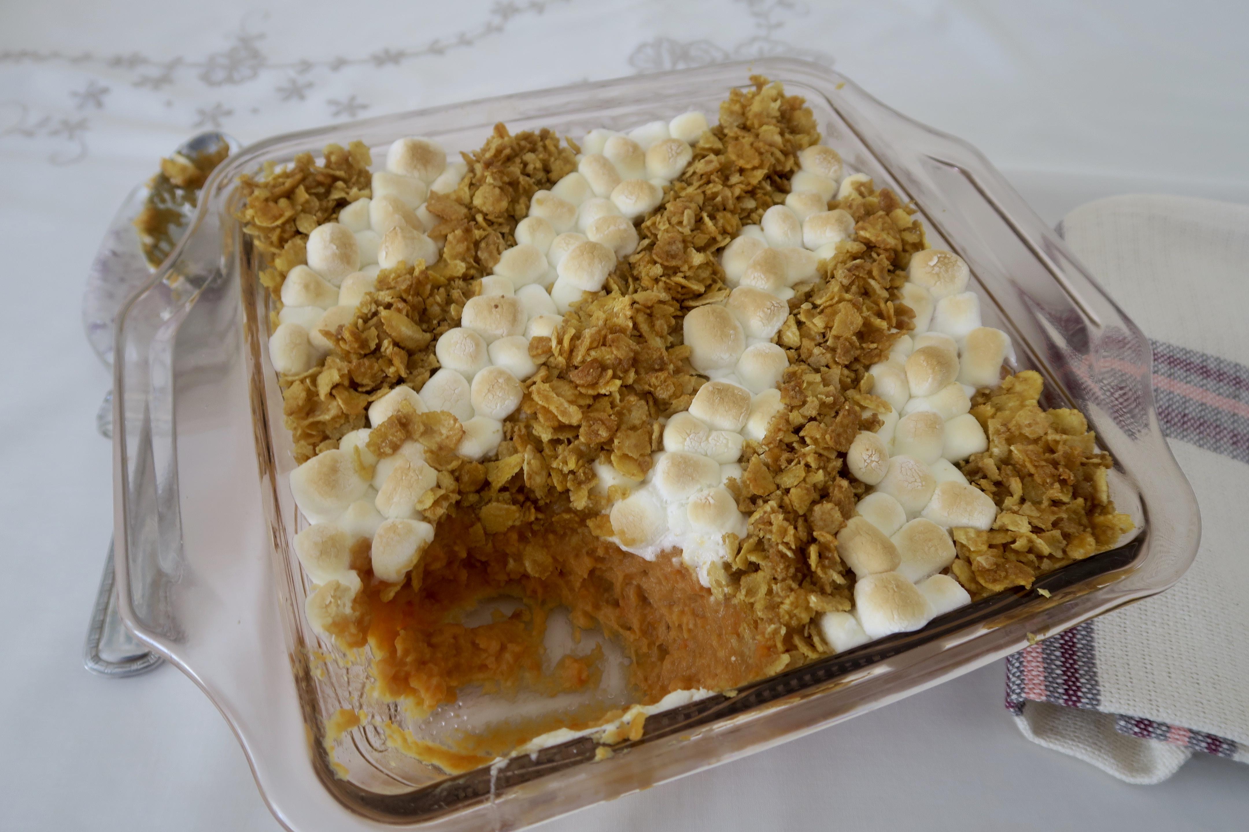 Marshmallow & Cornflake Sweet Potato Casserole Michaela Mercer Rosenthal