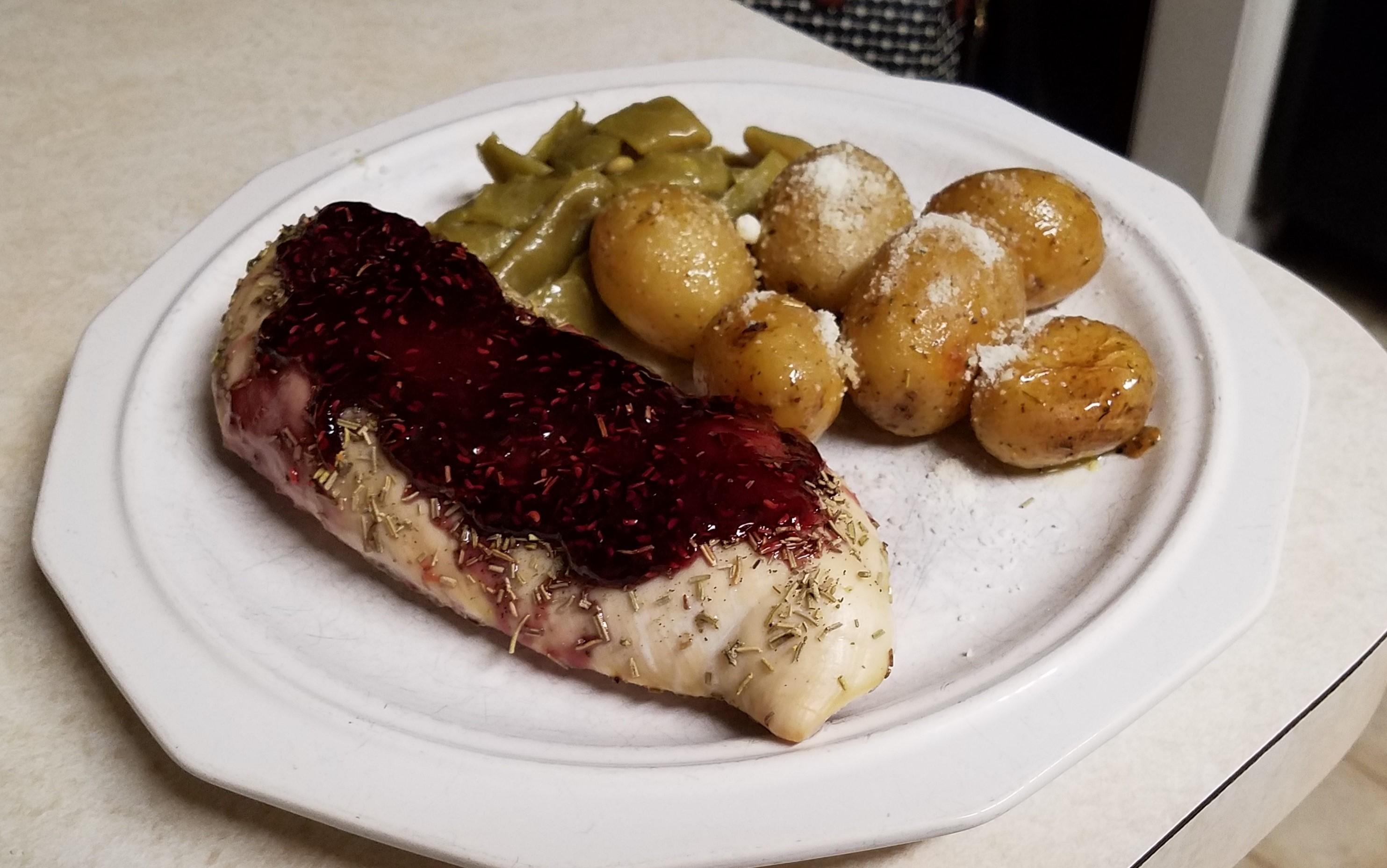 Raspberry-Glazed Rosemary Chicken Jack McLaughlin