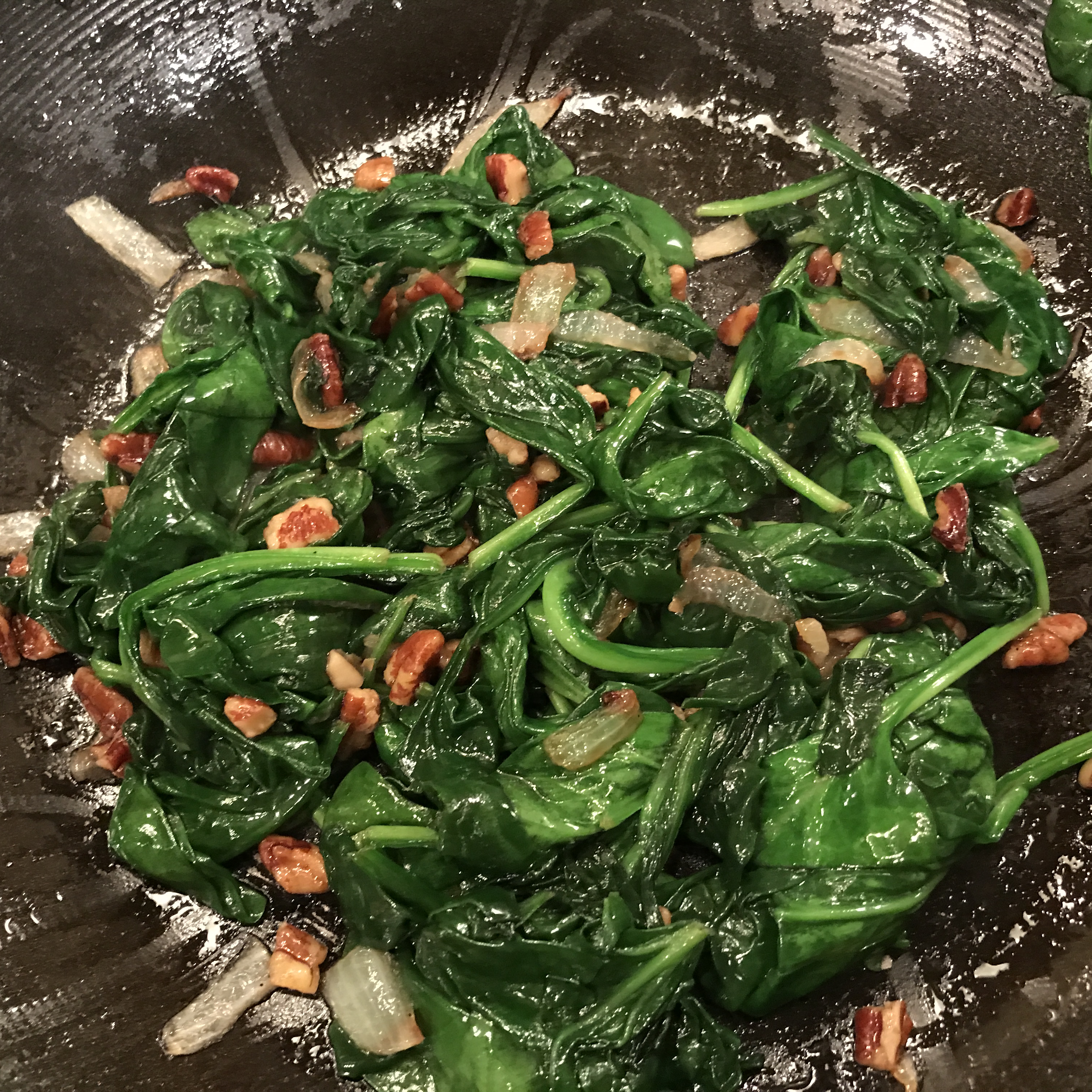 Spinach with Pecans Rob Grand-Lienard