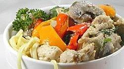 Lime Chicken and Mushroom Pasta