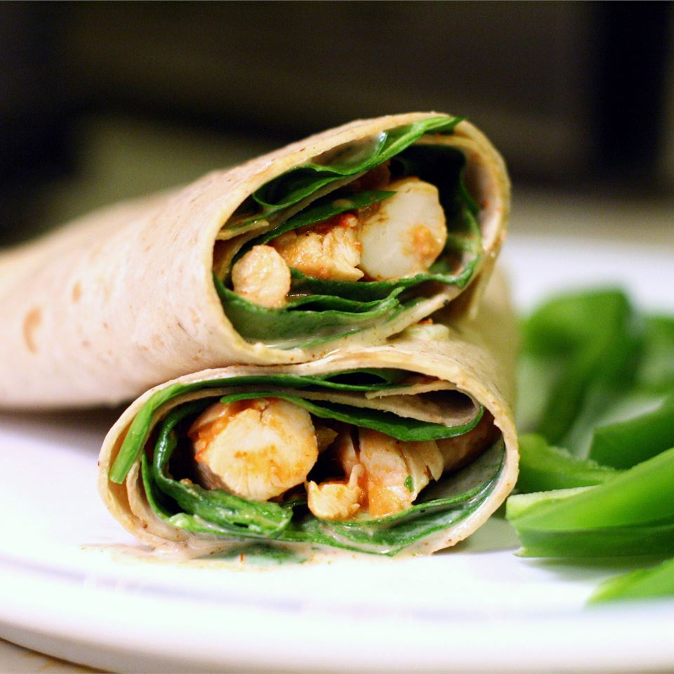Simple Sweet and Spicy Chicken Wraps TTV78