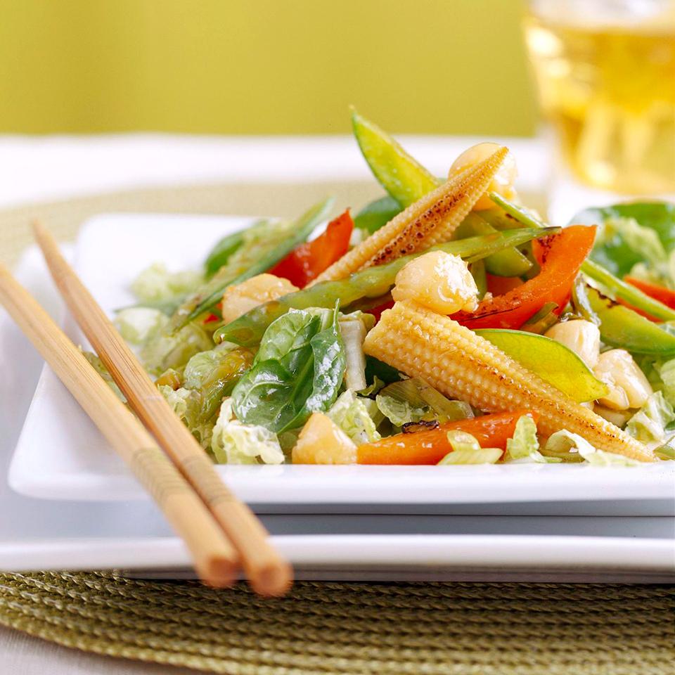 Scallop Stir-Fry Salad Diabetic Living Magazine