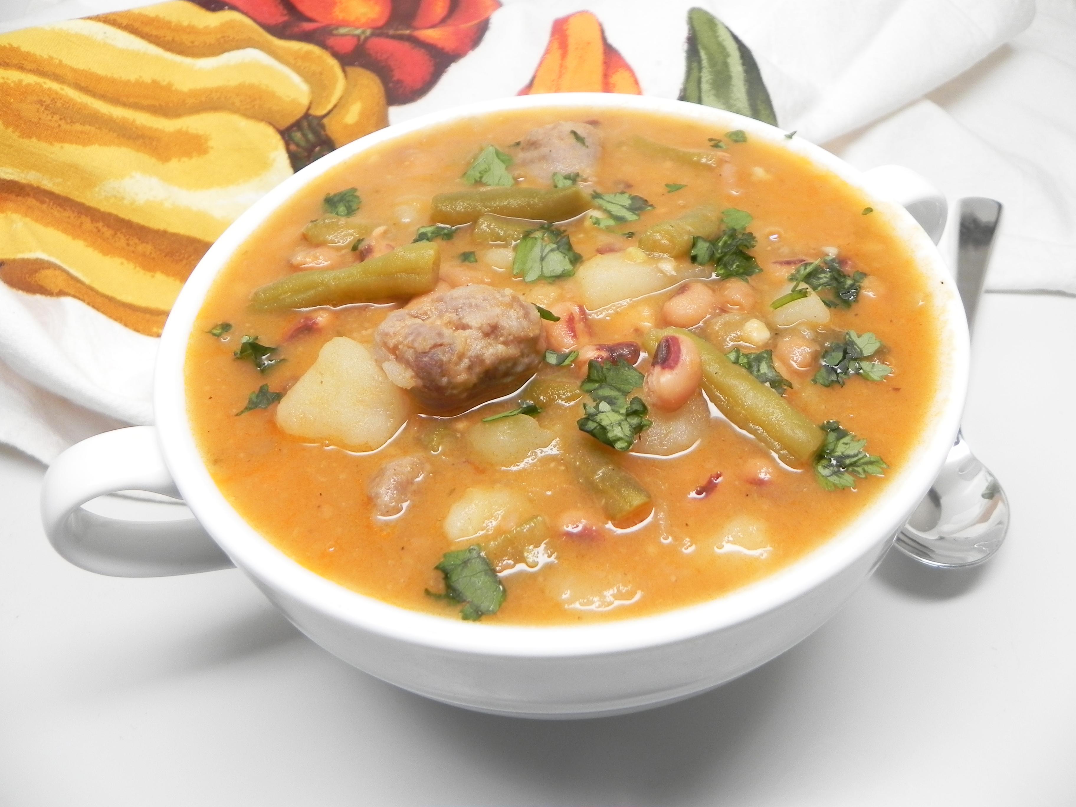 Black-Eyed Pea Bratwurst Stew