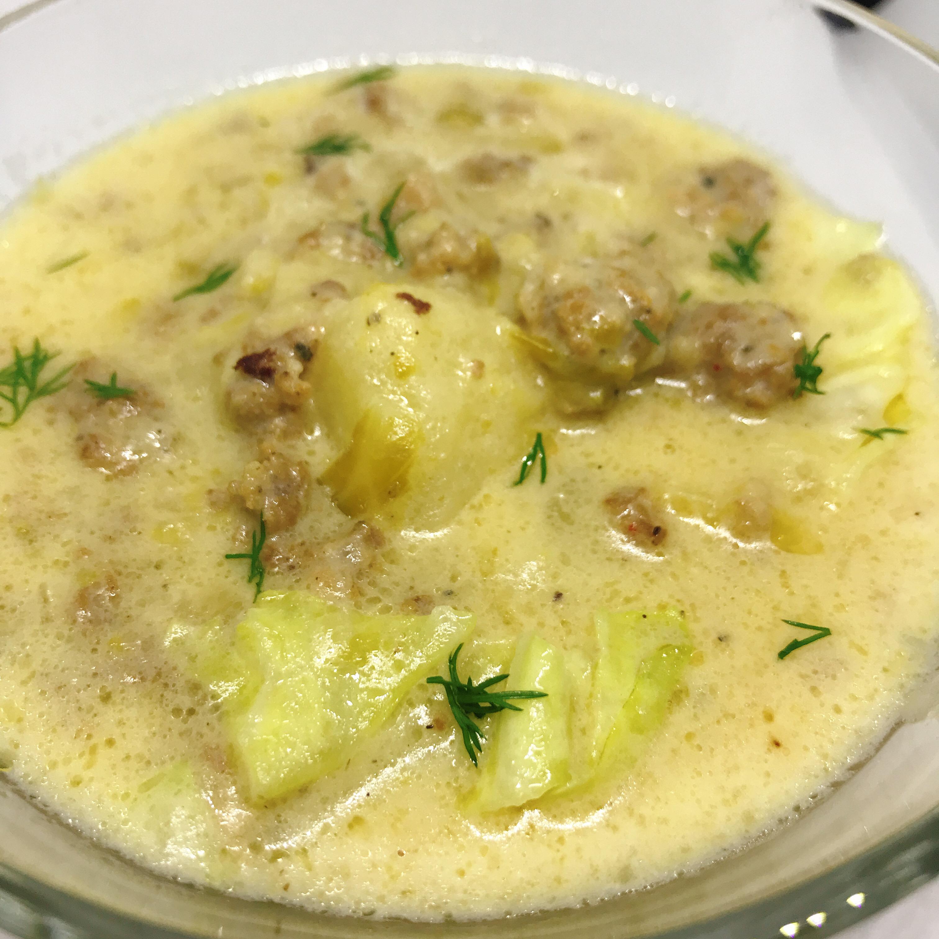 Instant Pot® Creamy Cabbage Sausage Soup