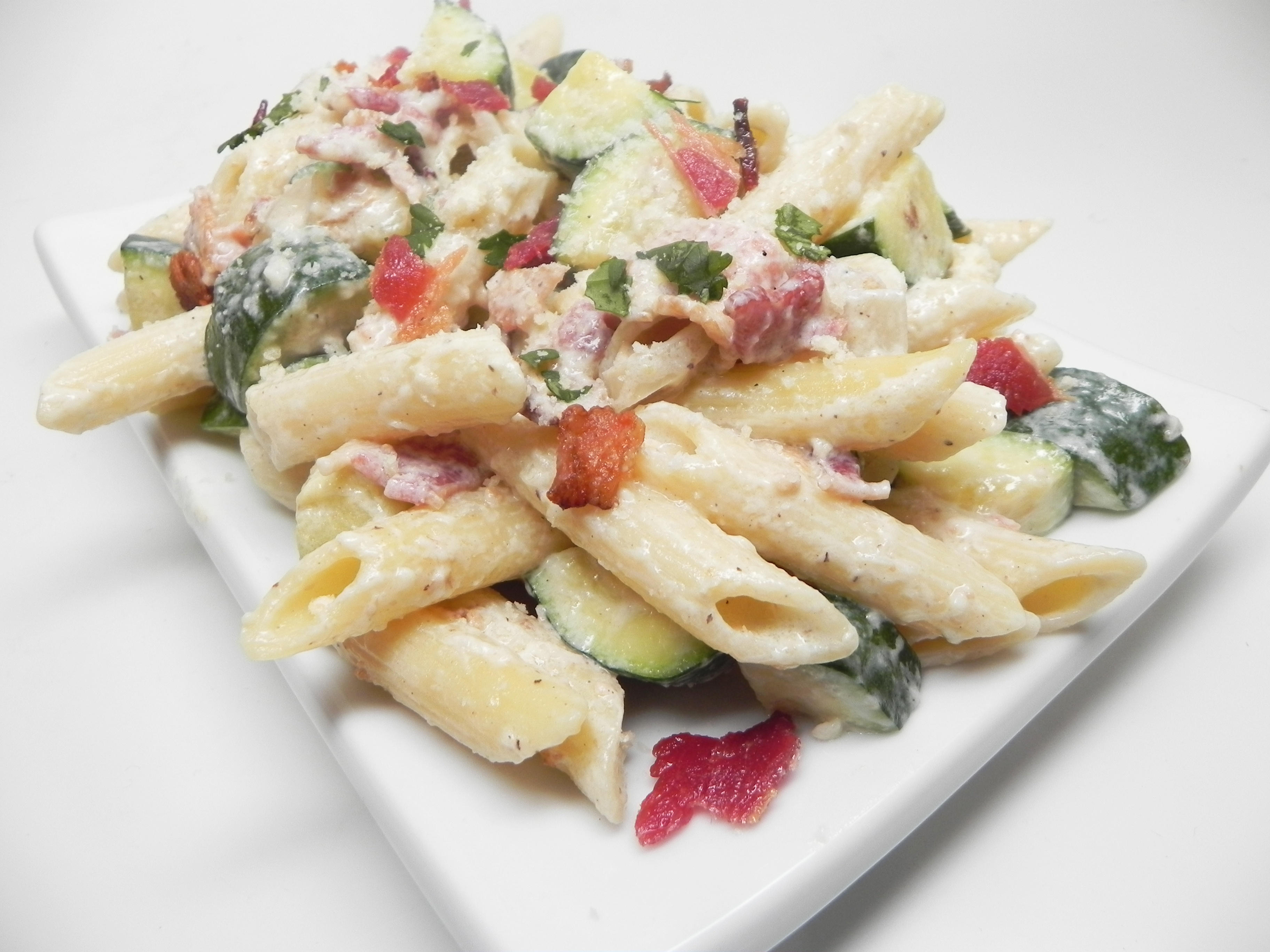 Penne with Bacon and Zucchini manella