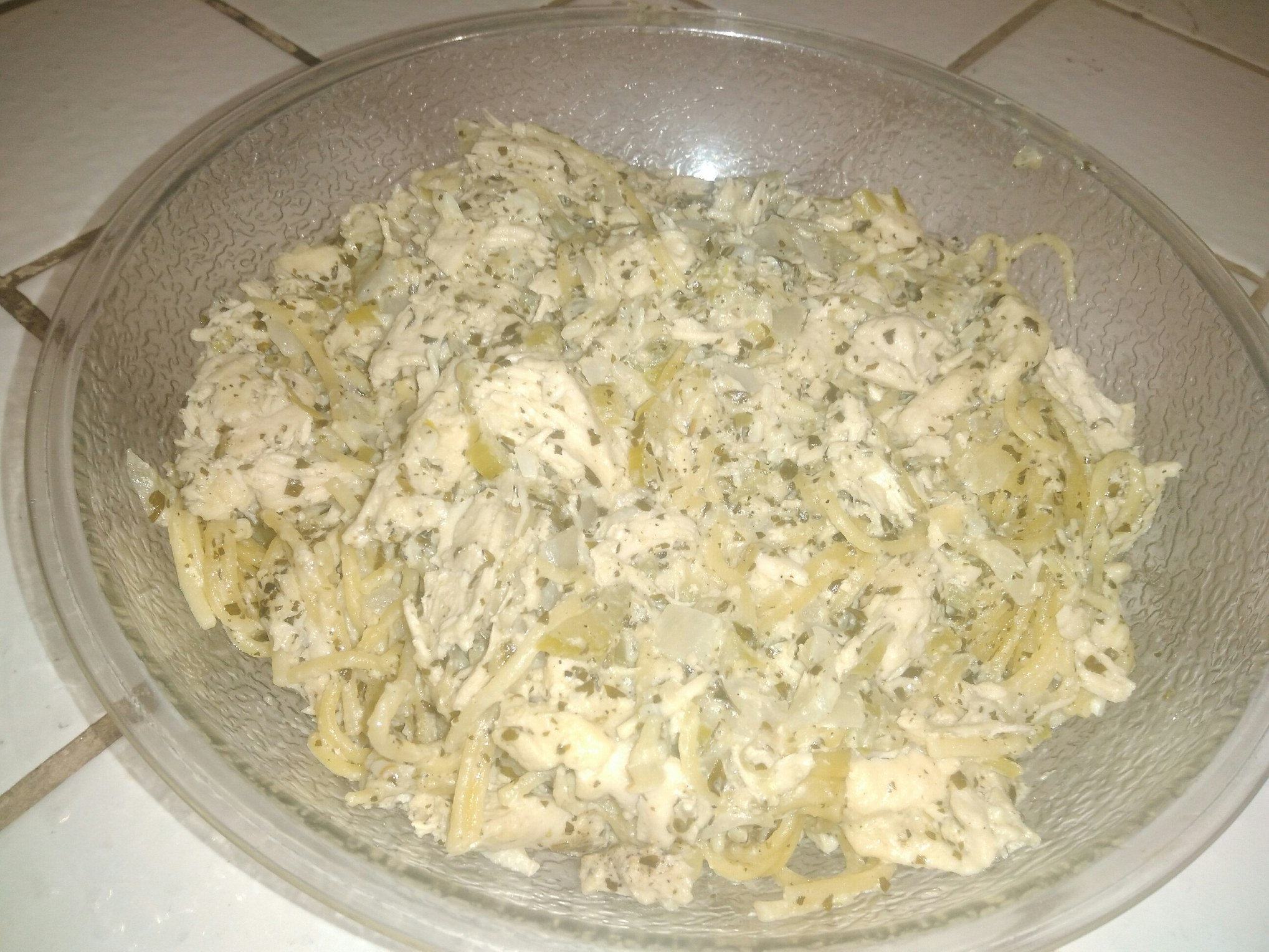 Slow Cooker Creamy Pesto Chicken and Pasta Geek Of  A Cook