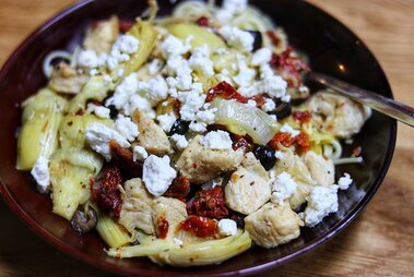 chicken with artichokes and sundried tomatoes recipe