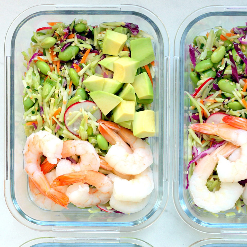 Spicy Slaw Bowls with Shrimp & Edamame Carolyn A. Hodges, R.D.