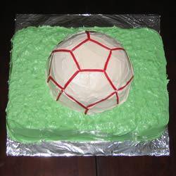 Soccer Ball Cake mrs smiff
