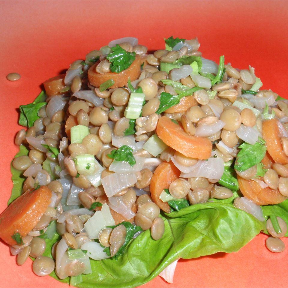 Mediterranean Lentil Salad sueb