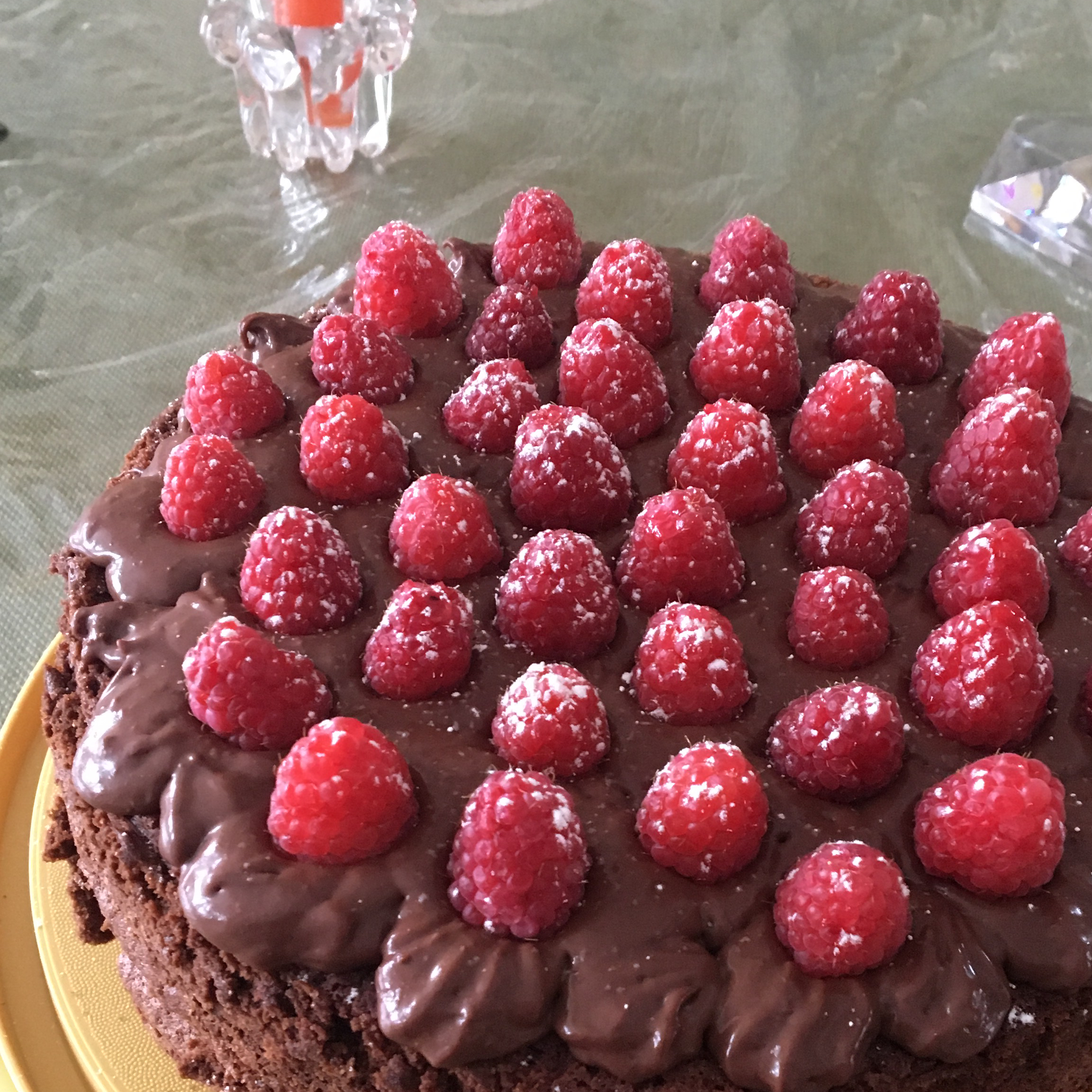Deep Chocolate Raspberry Cake Maria Fontana Cammarata