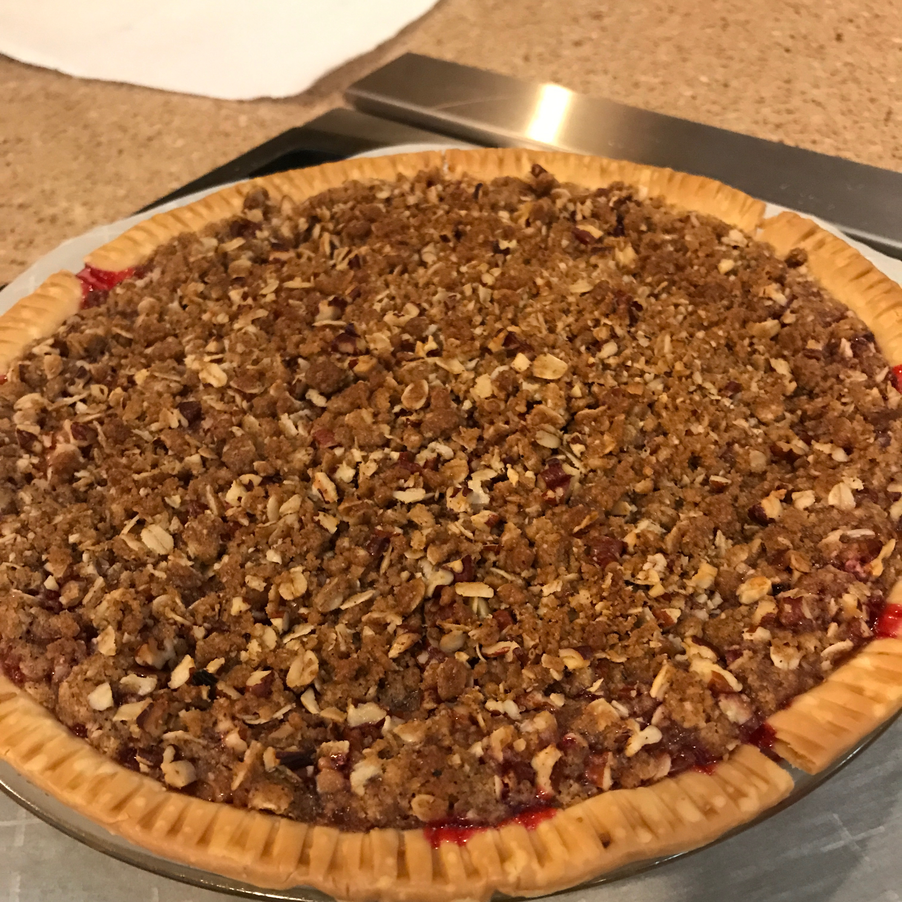 Cranberry Streusel Pie