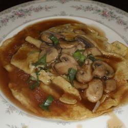 Egg Foo Yung with Mushroom Sauce andrea92fl