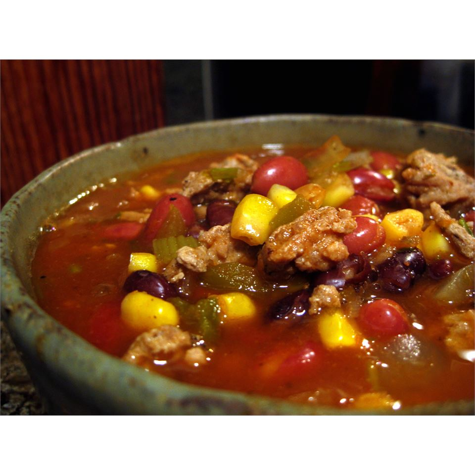Black Bean, Corn and Turkey Chili