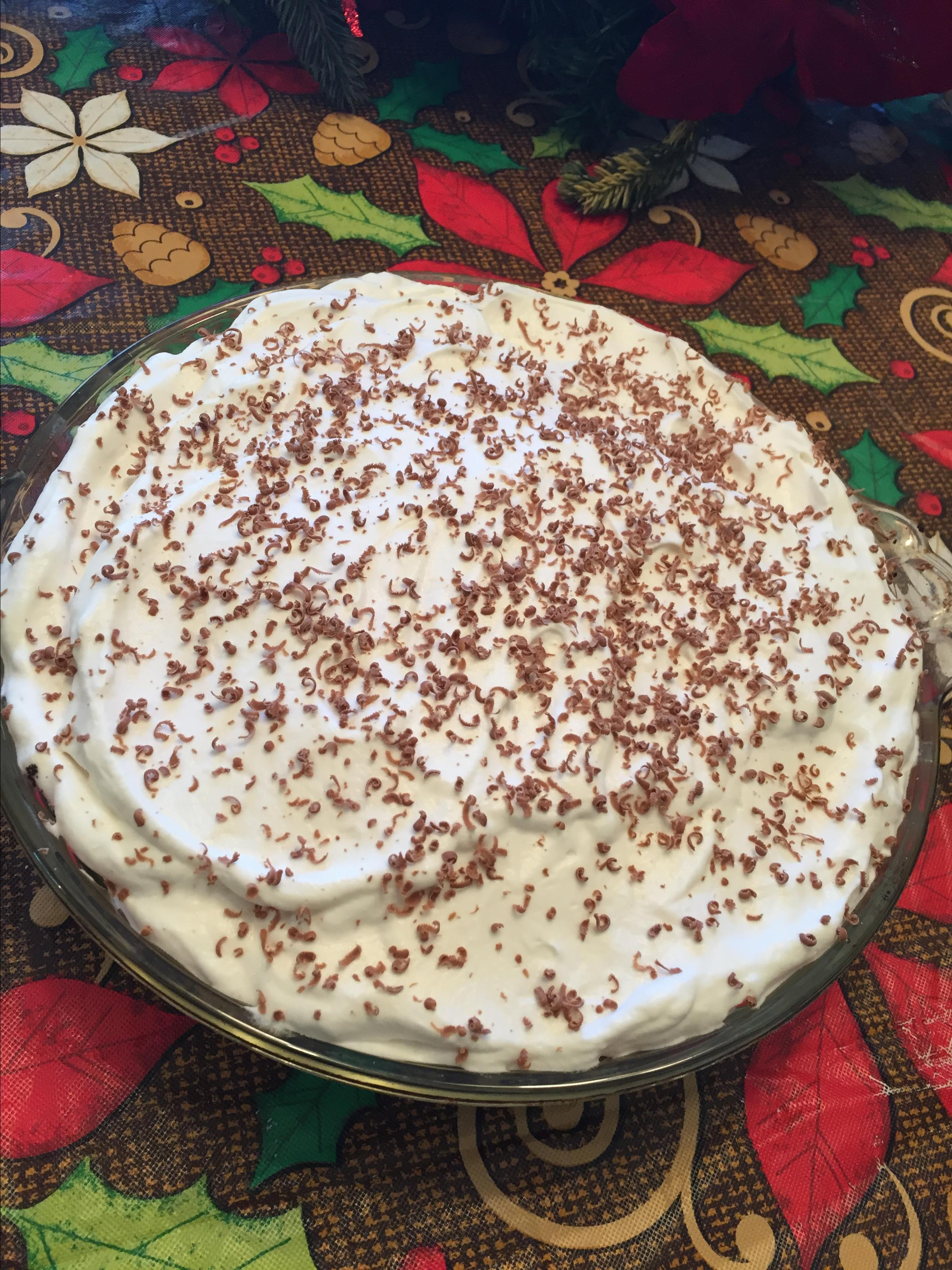 Chocolate Rum Mousse Pie