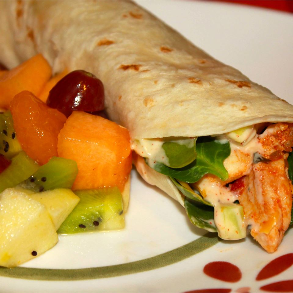 Simple Sweet and Spicy Chicken Wraps Marisa R.
