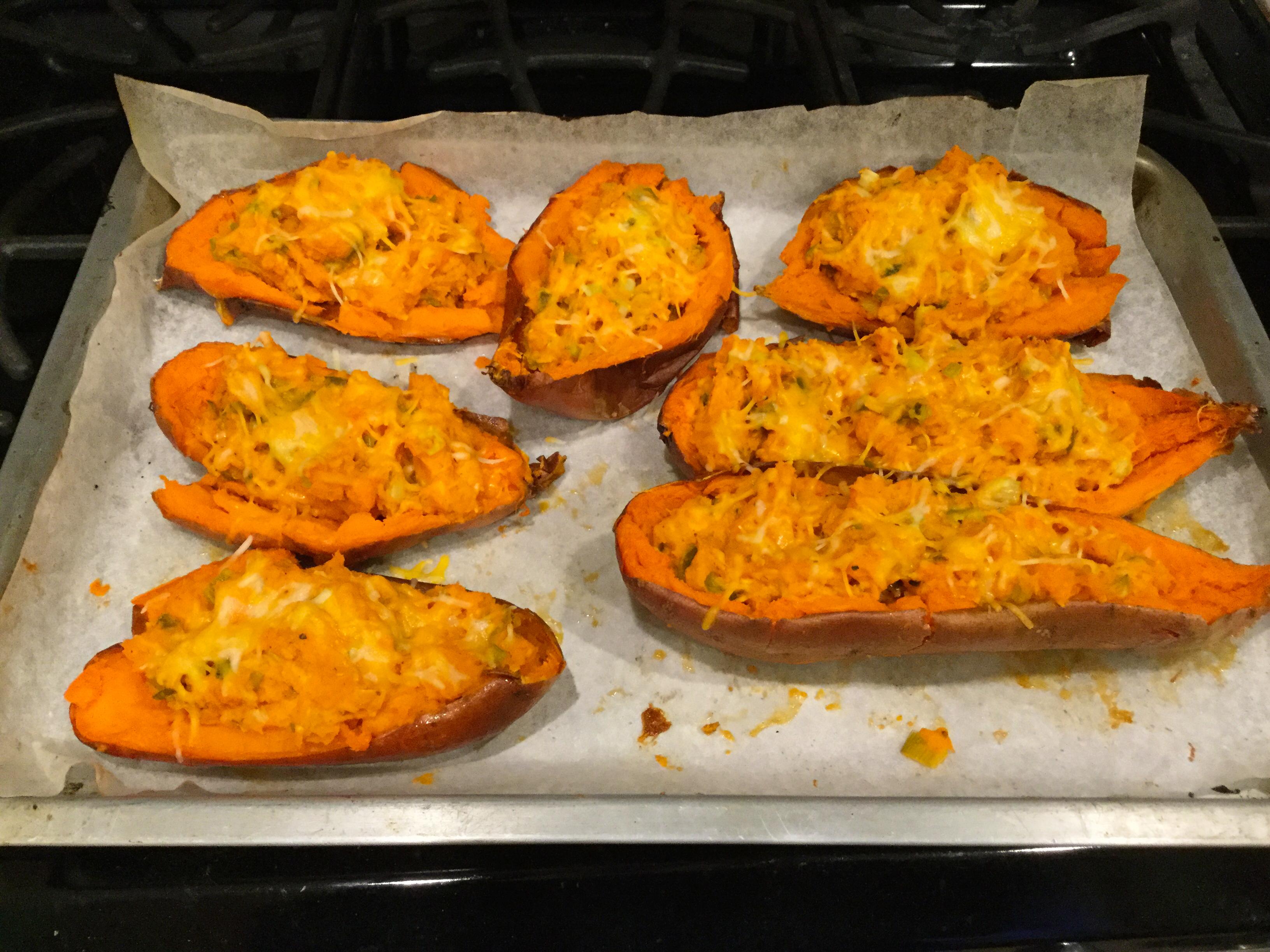 Loaded Twice-Baked Sweet Potatoes Athena Cole