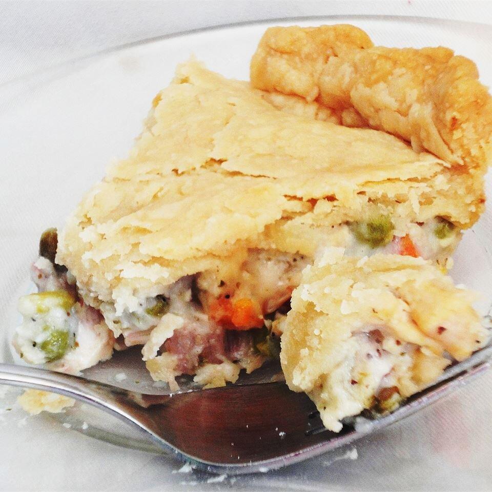 Dad S Leftover Turkey Pot Pie Allrecipes