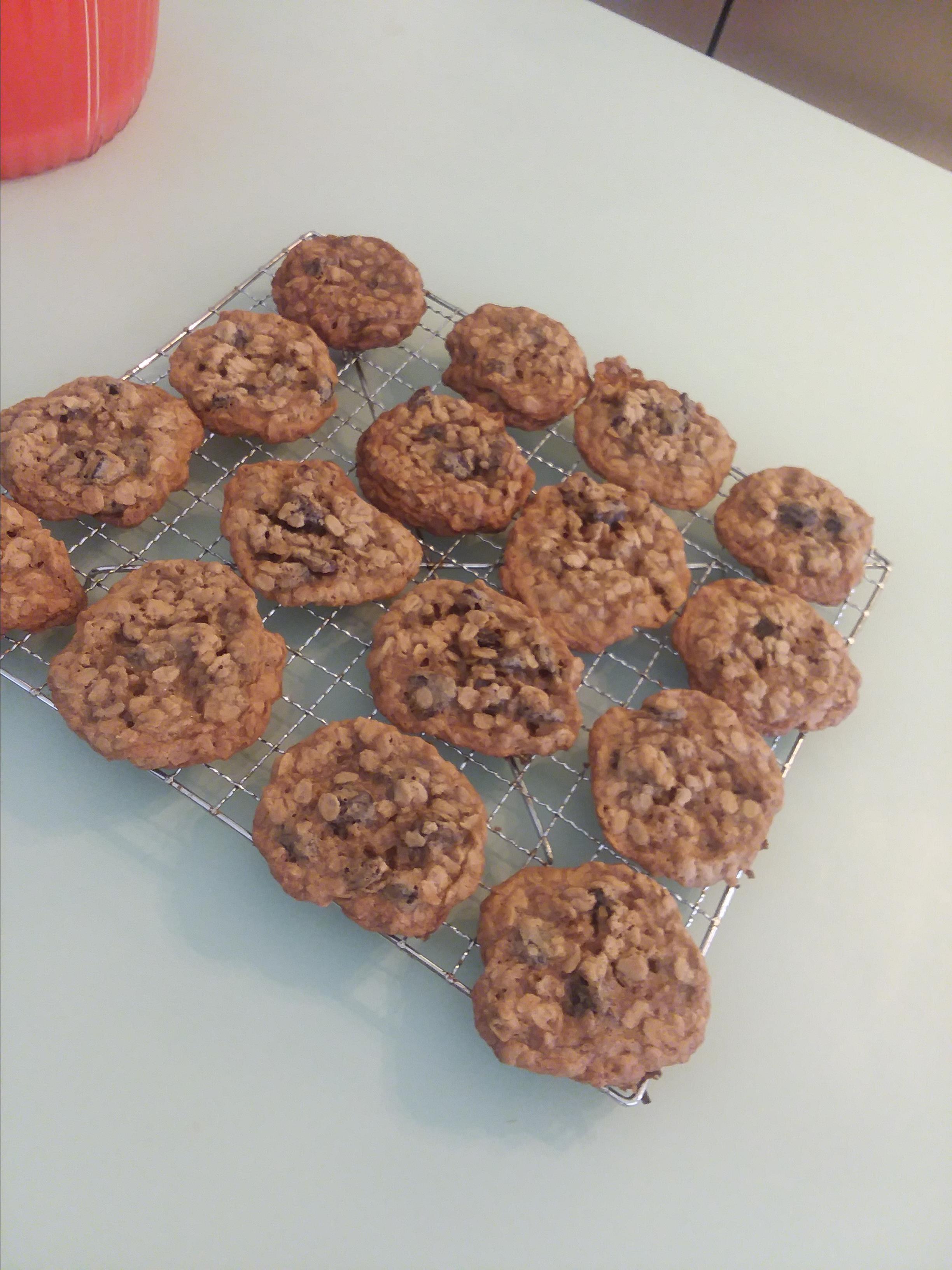 "Oatmeal Cherry Walnut Cookies Siobhan ""Unassembled"""