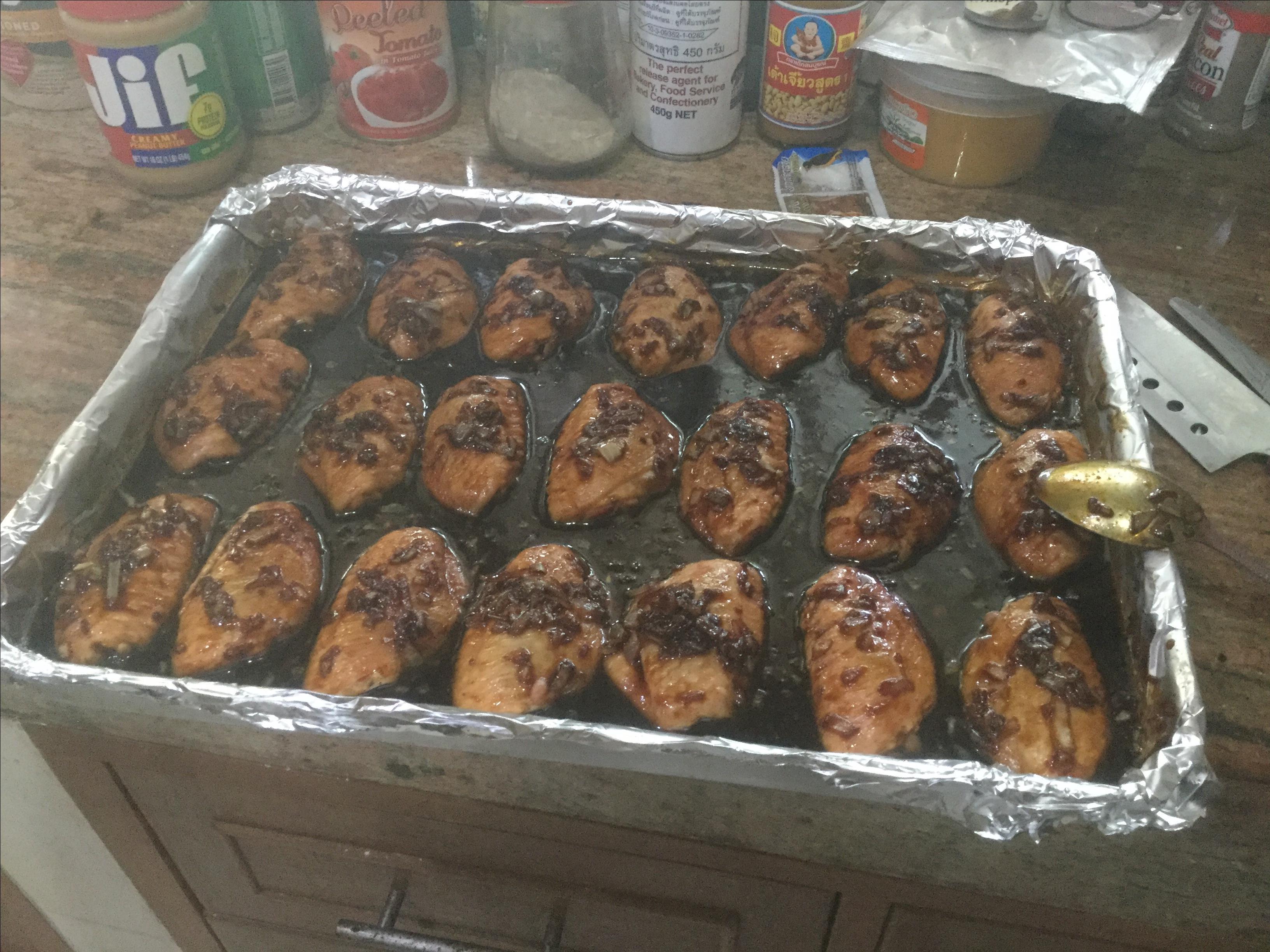Honey Garlic Chicken Wings Frank in Pattaya