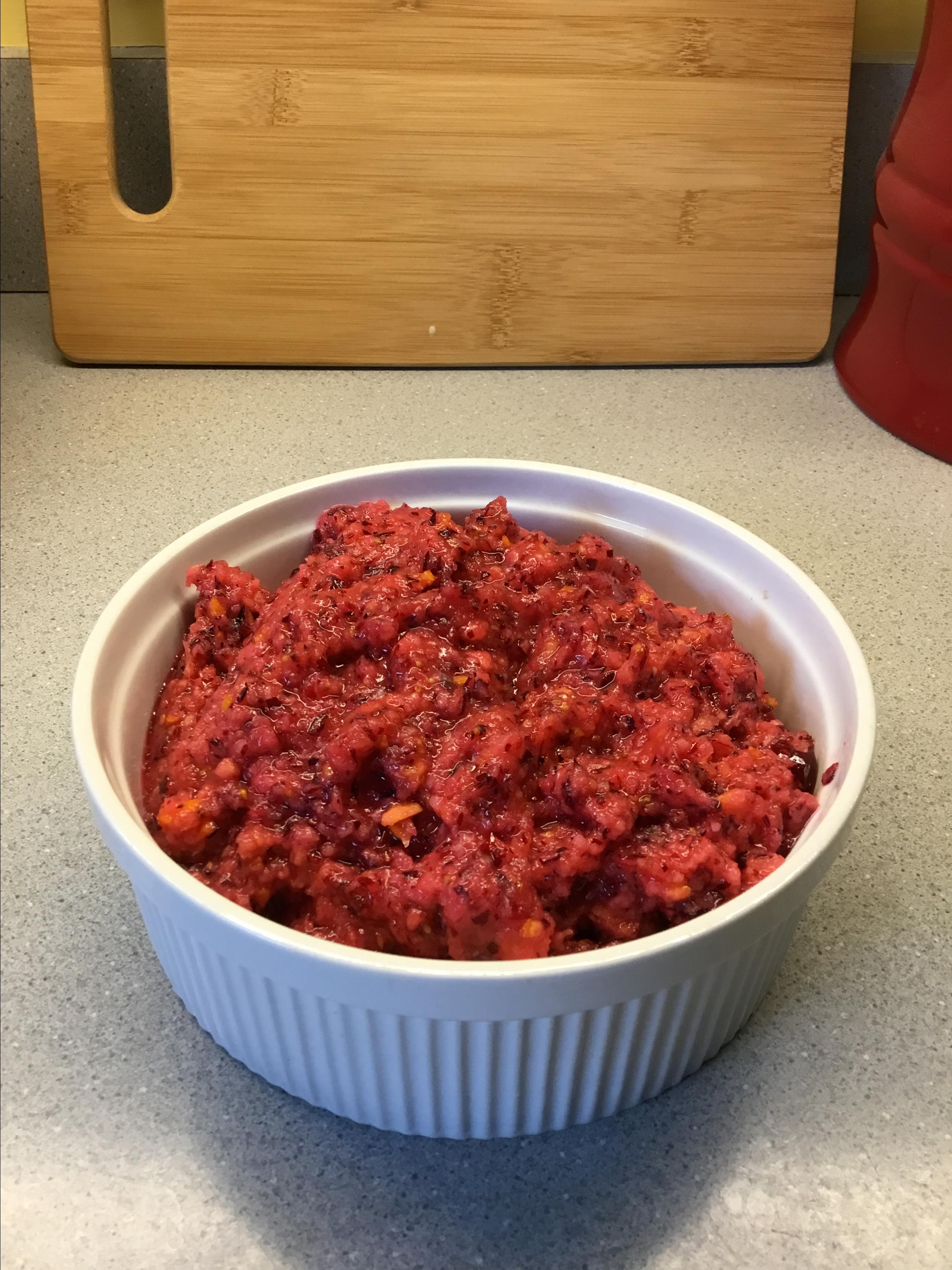 Easy Cranberry Orange Relish jamarsh
