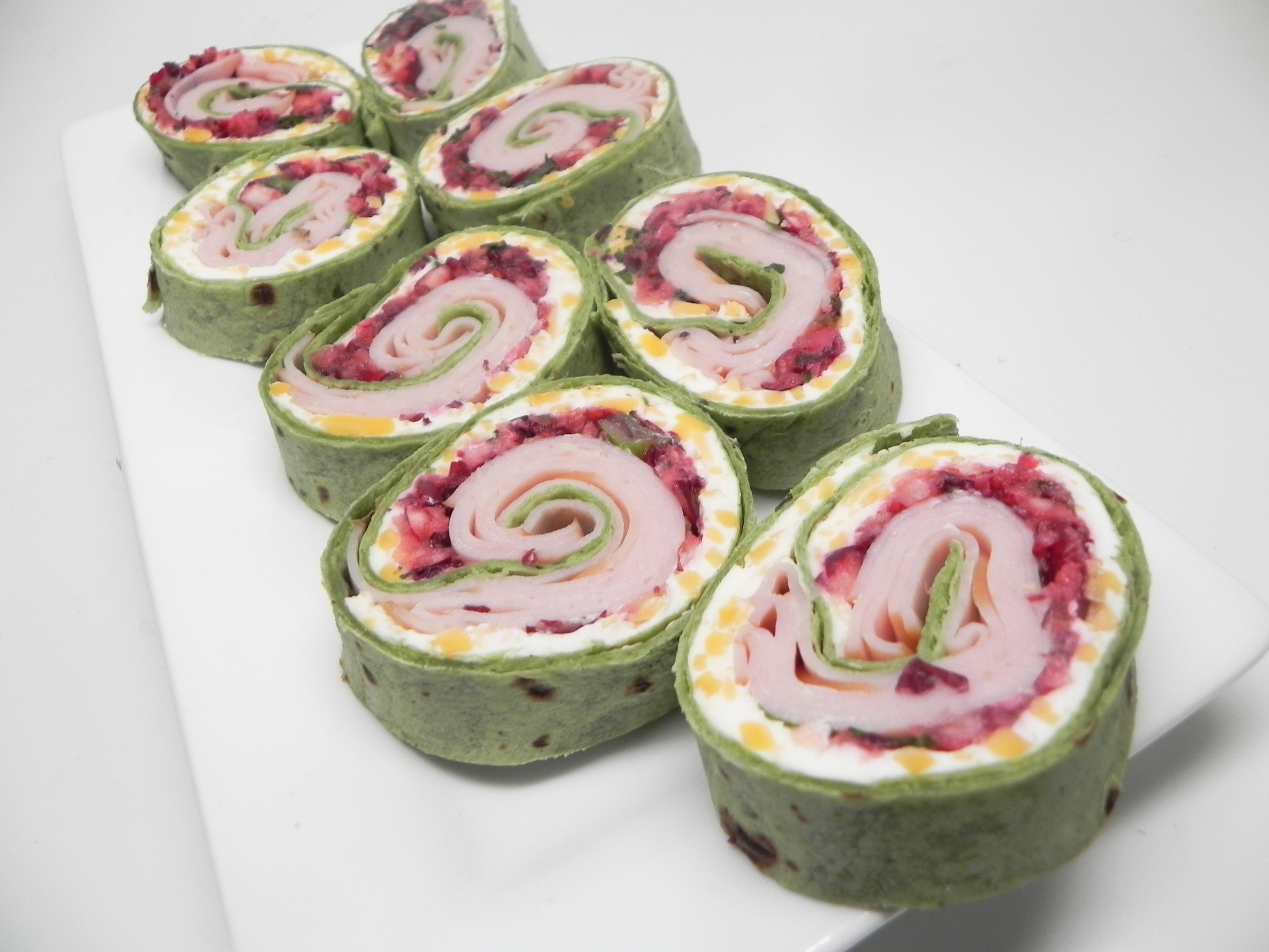 Spicy Turkey and Cranberry Pinwheels Soup Loving Nicole