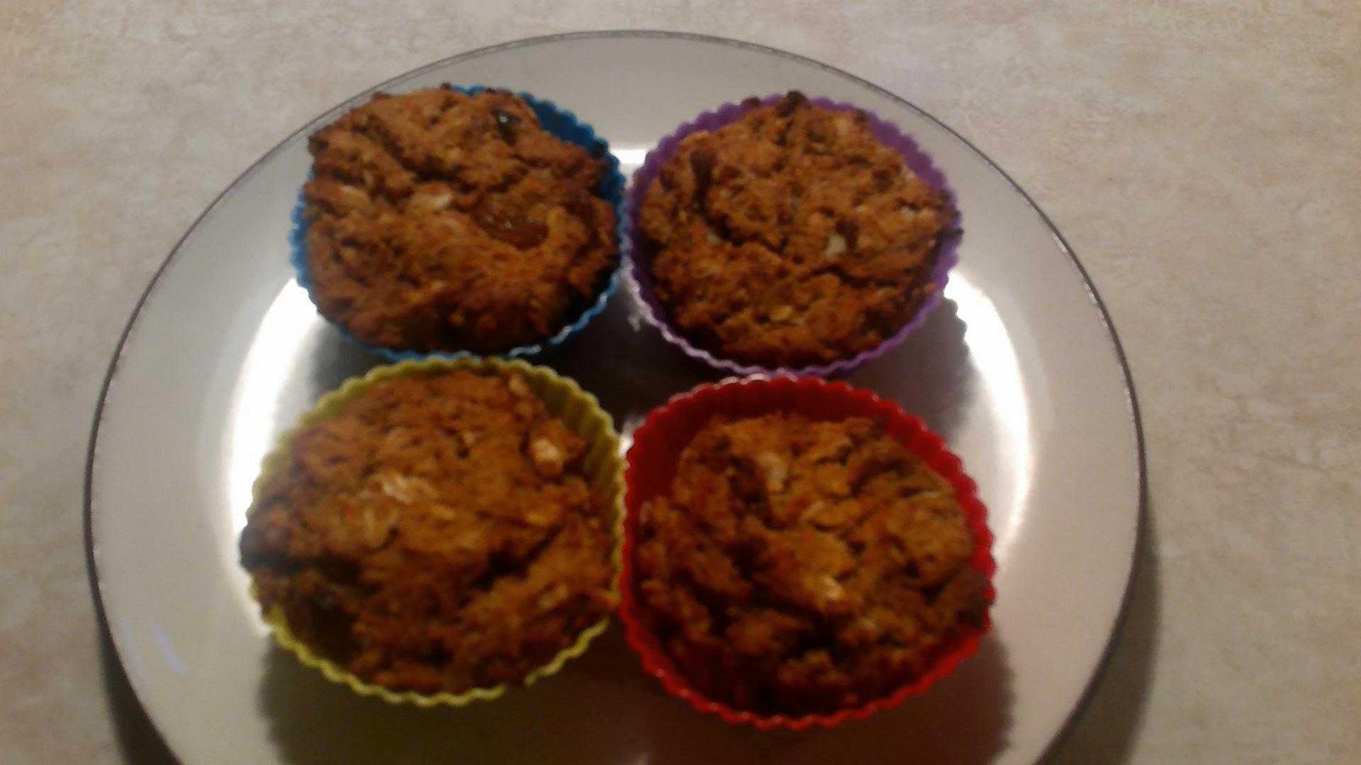 Carrot Morning Glory Muffins (Gluten Free Optional) sunshine