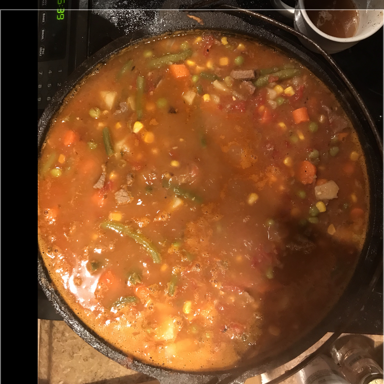 Dutch Oven Vegetable Beef Soup darrell