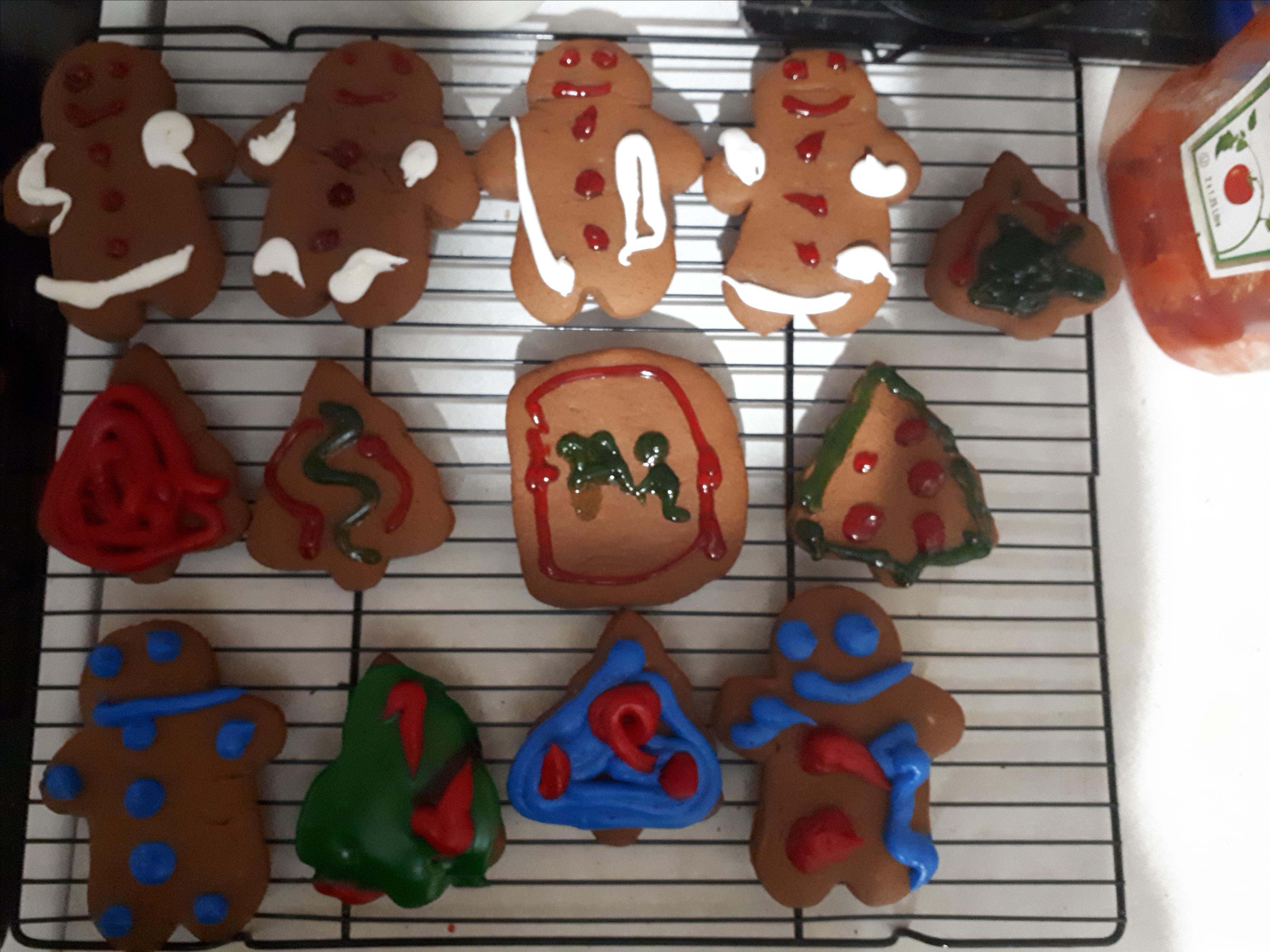 Gingerbread Men Cookies Alysha Bear