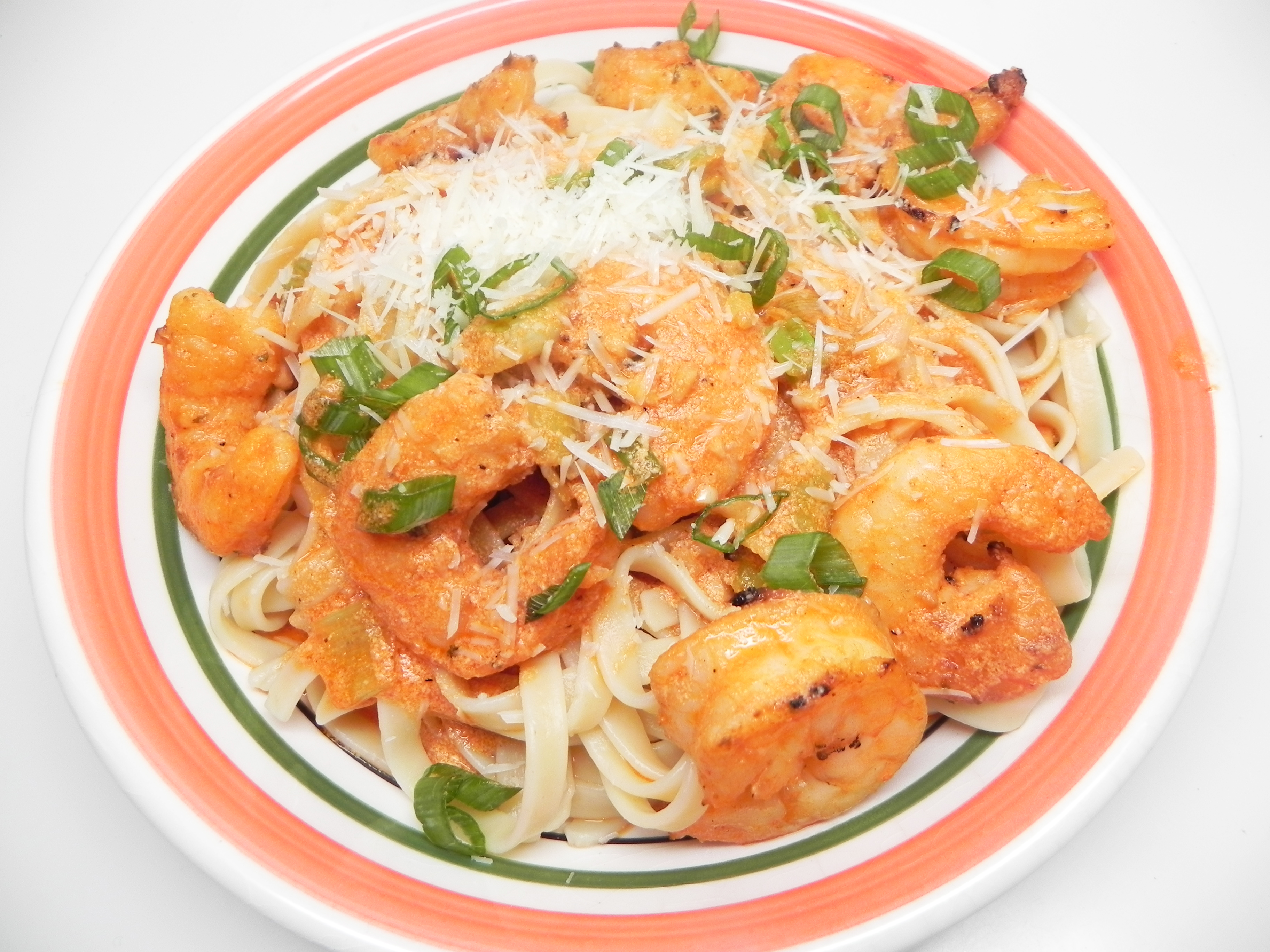 Quick Seafood Pasta with Shrimp in Pink Cream Sauce