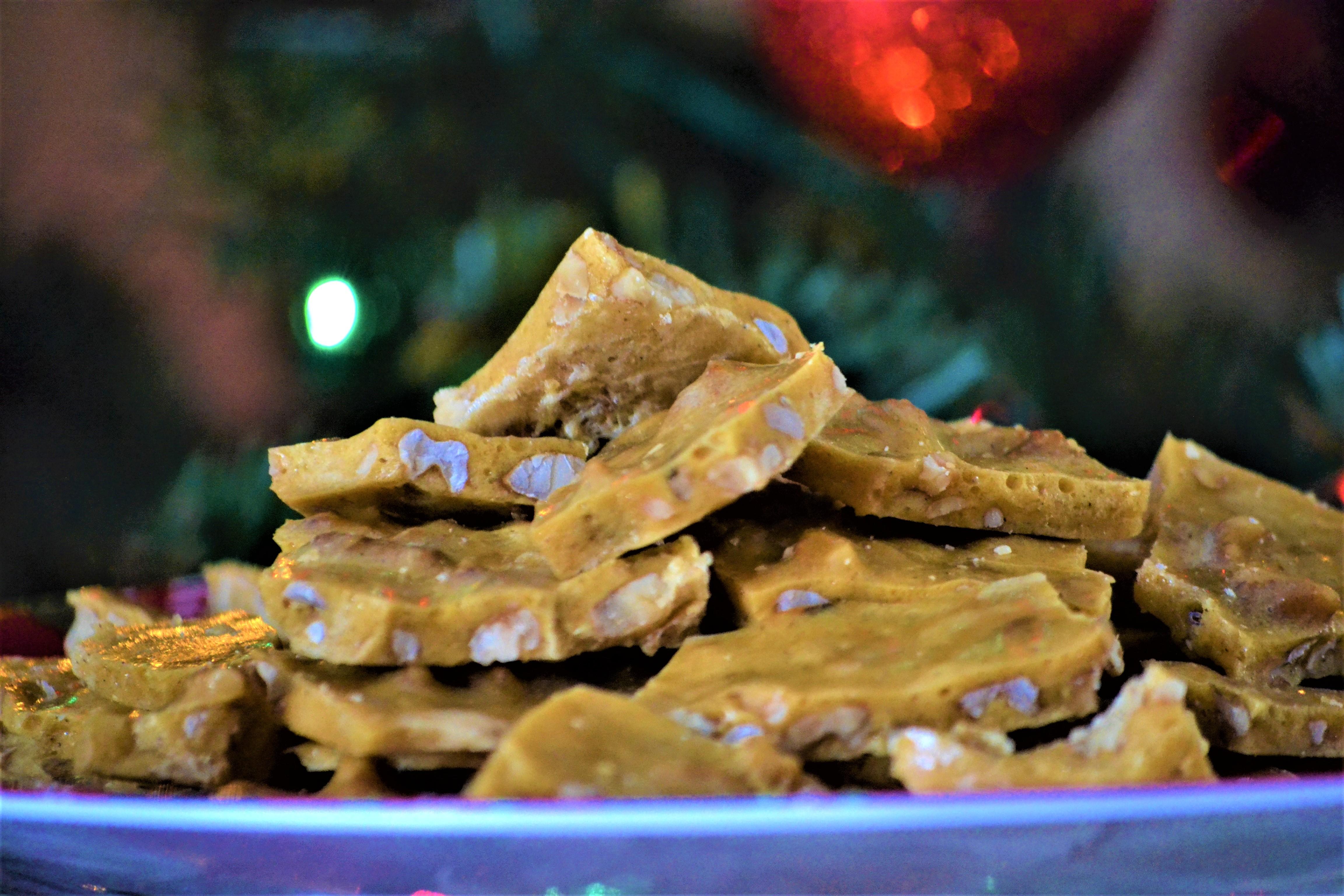 Grandma Myrna's Honey-Walnut Brittle