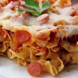 Pepperoni Pizza Bake mominml