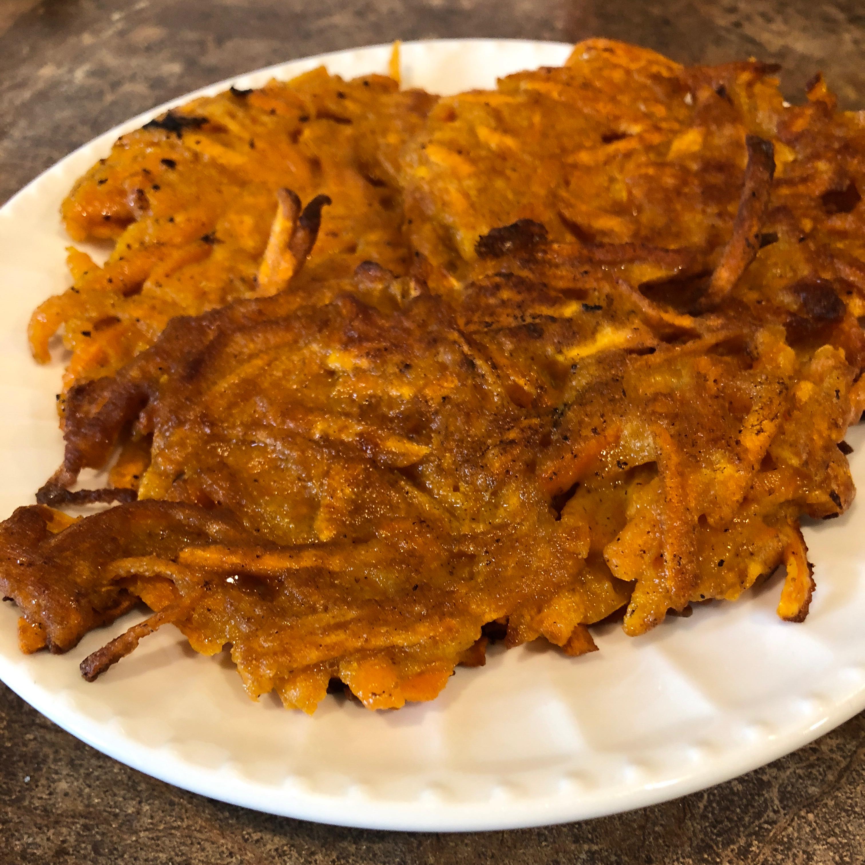 Curried Sweet Potato Latkes Angela Andrea