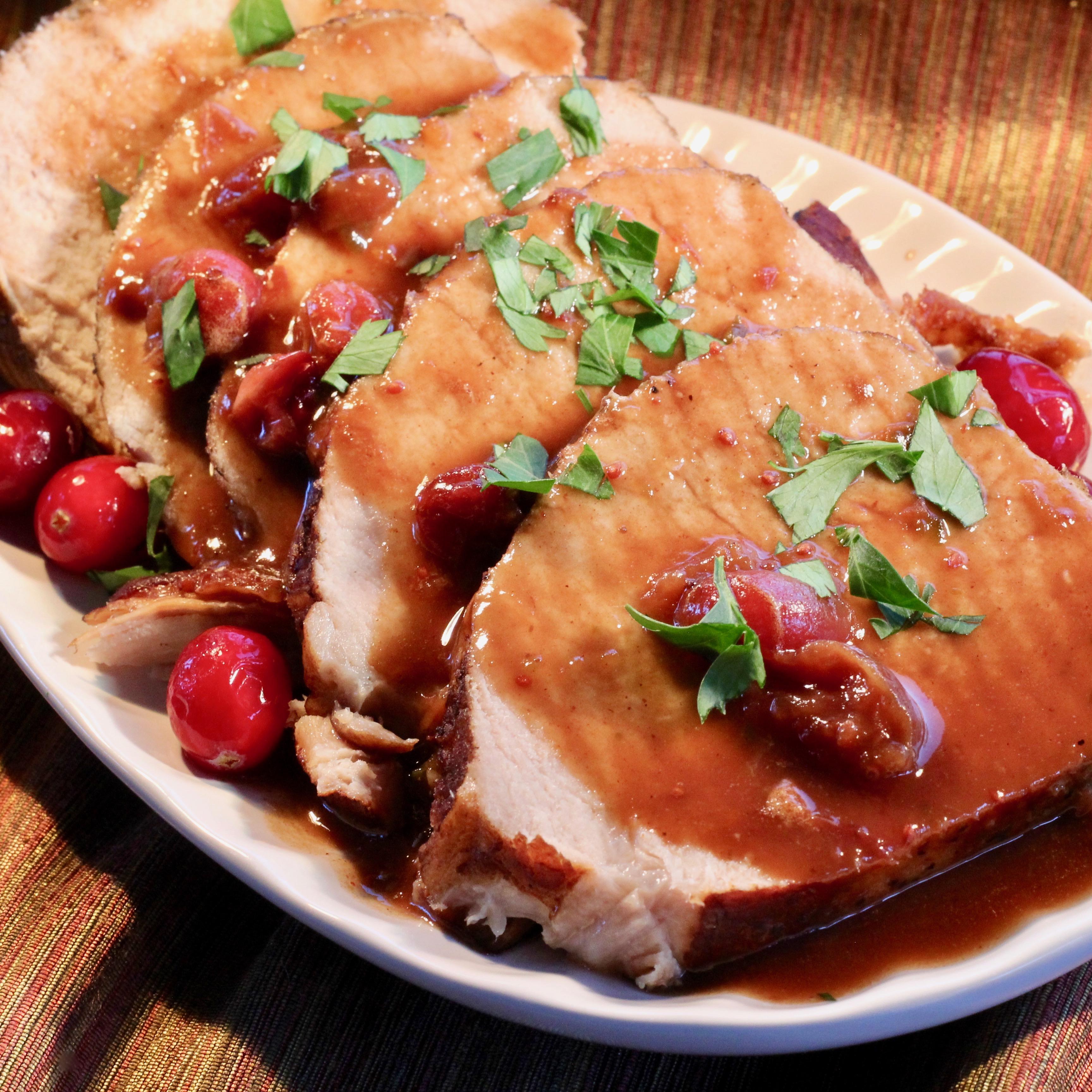 Instant Pot® Orange-Cranberry-Balsamic Pork Loin lutzflcat