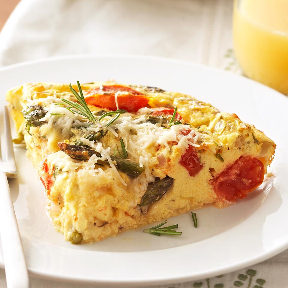 Roasted Tomato & Asparagus Crustless Quiche Diabetic Living Magazine