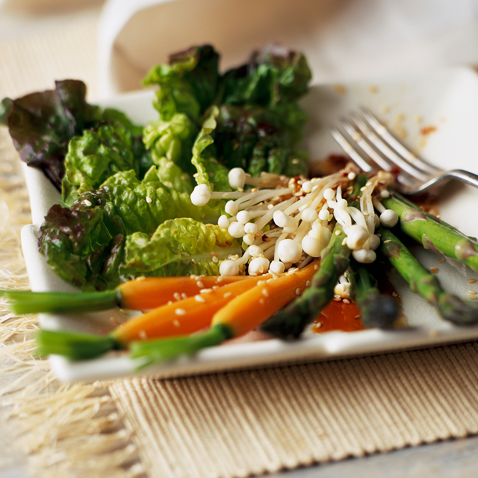 Asparagus & Carrots with Asian Vinaigrette Diabetic Living Magazine