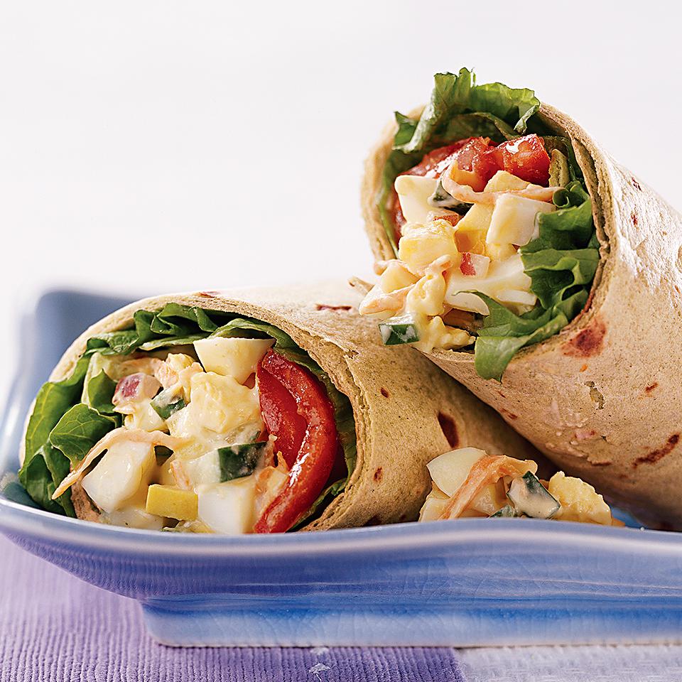 Egg-Vegetable Salad Wraps Diabetic Living Magazine