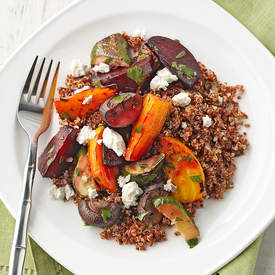 Roasted Vegetable & Quinoa Salad Diabetic Living Magazine