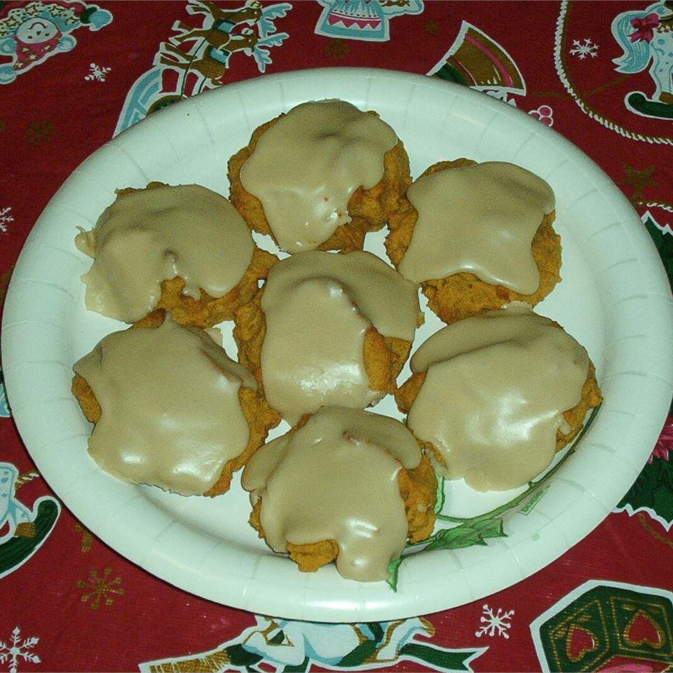 Pumpkin Cookies with Penuche Frosting Erika