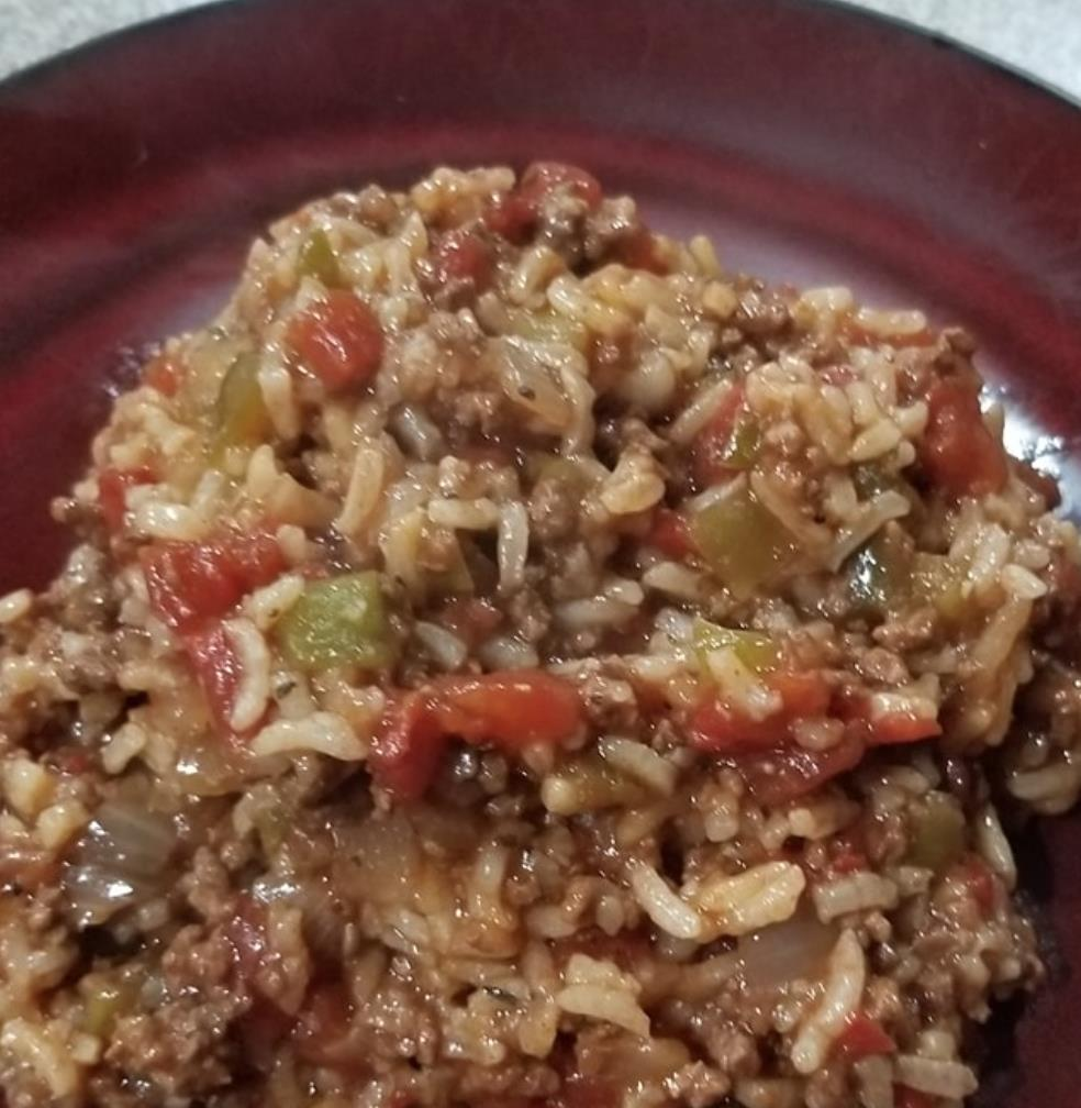 Instant Pot® Spanish Rice with Ground Beef