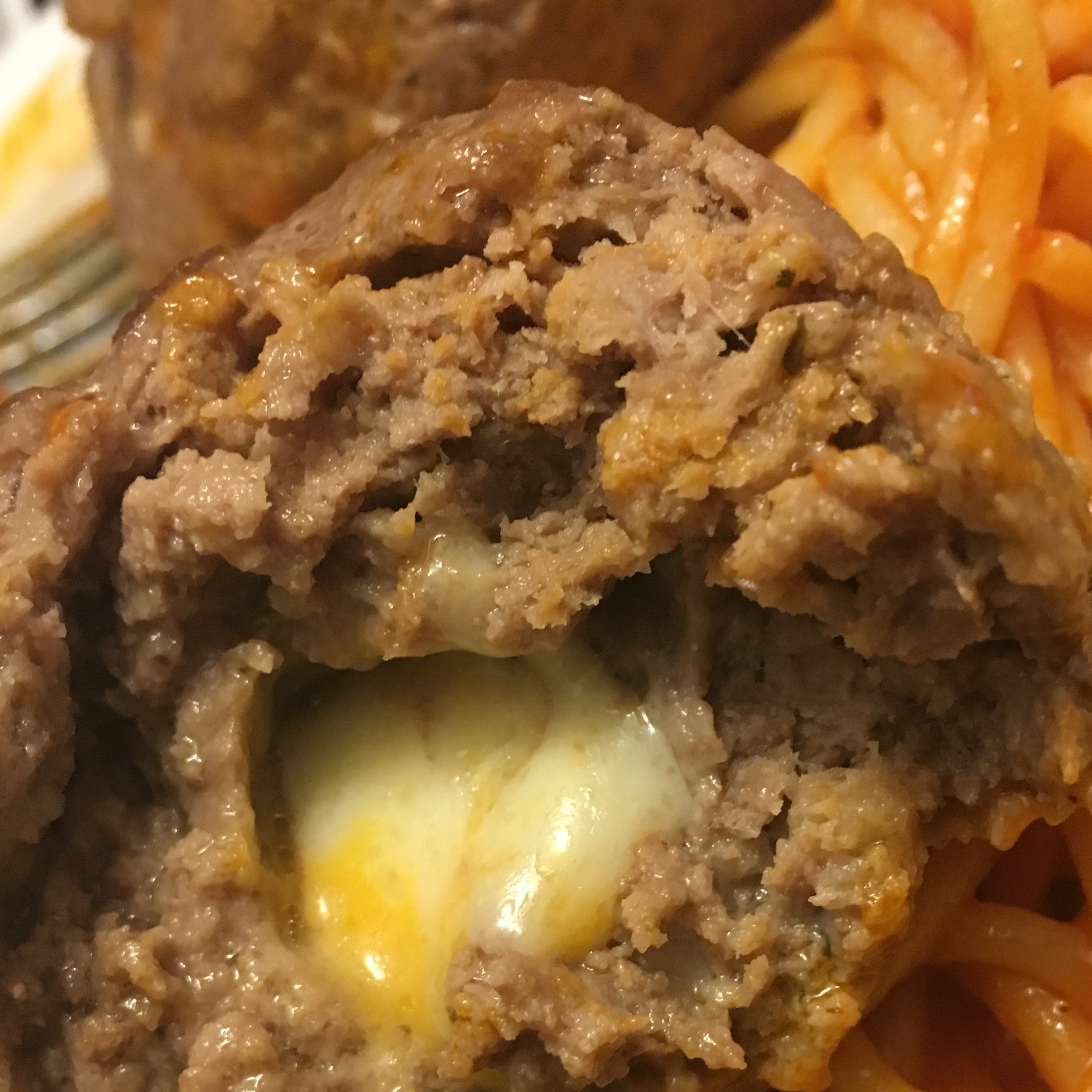 Feta Cheese Stuffed Meatballs James Dillard