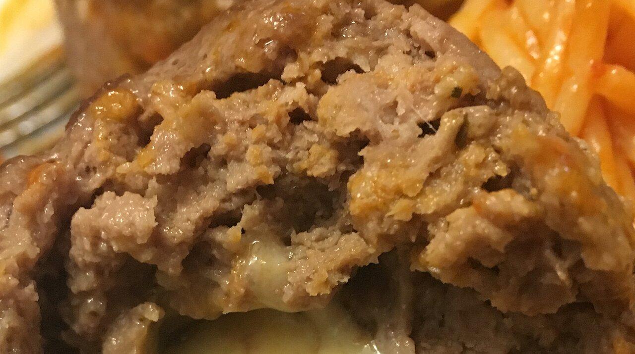 Feta Cheese Stuffed Meatballs