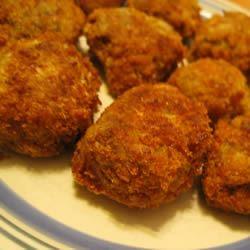 Tasty Fried Eggplant Balls marathonmama