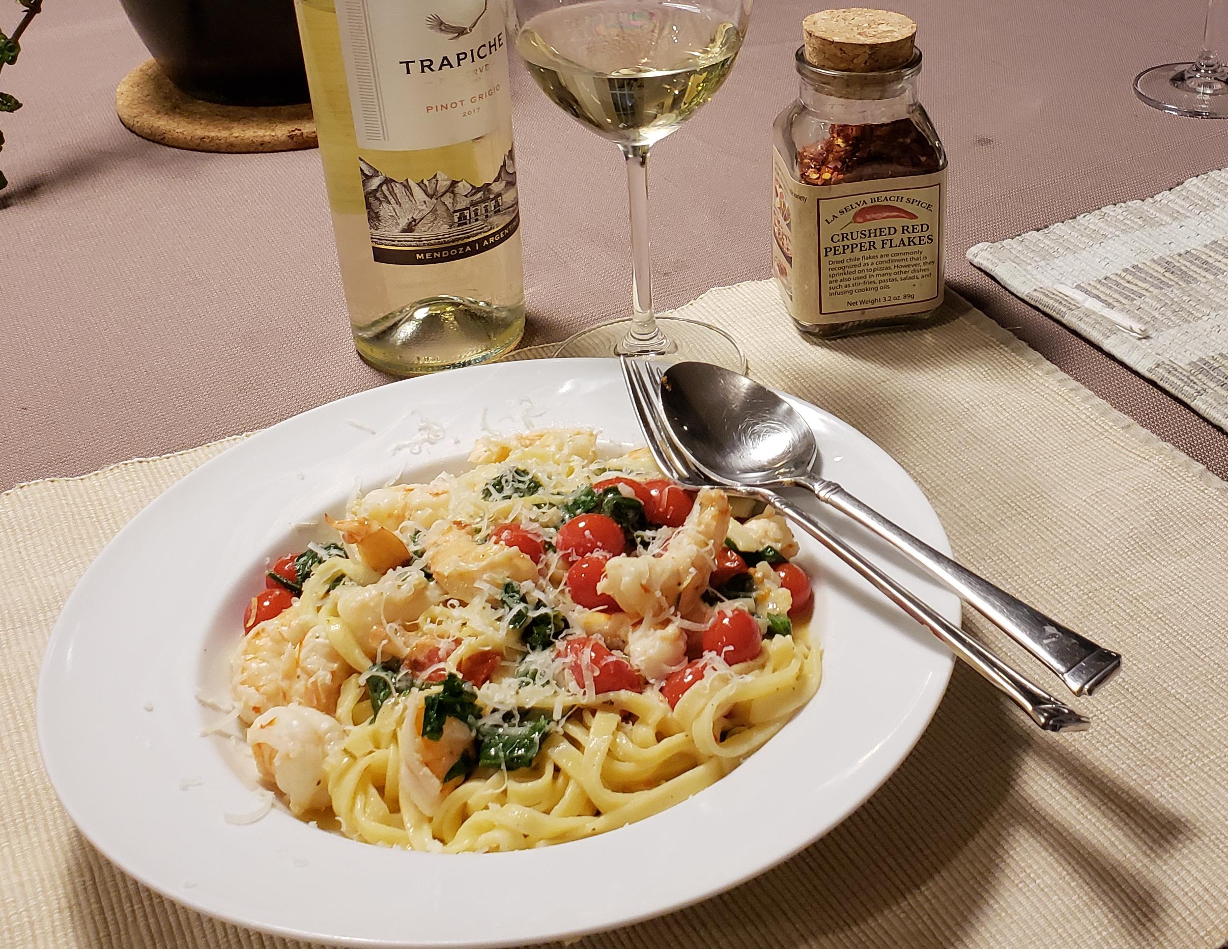 Shrimp Scampi with Linguini