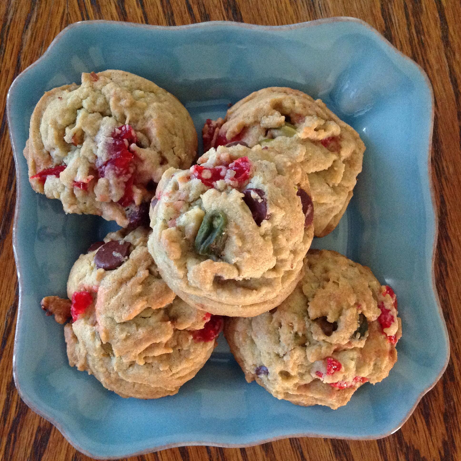 Spumoni Chocolate Chip Cookies