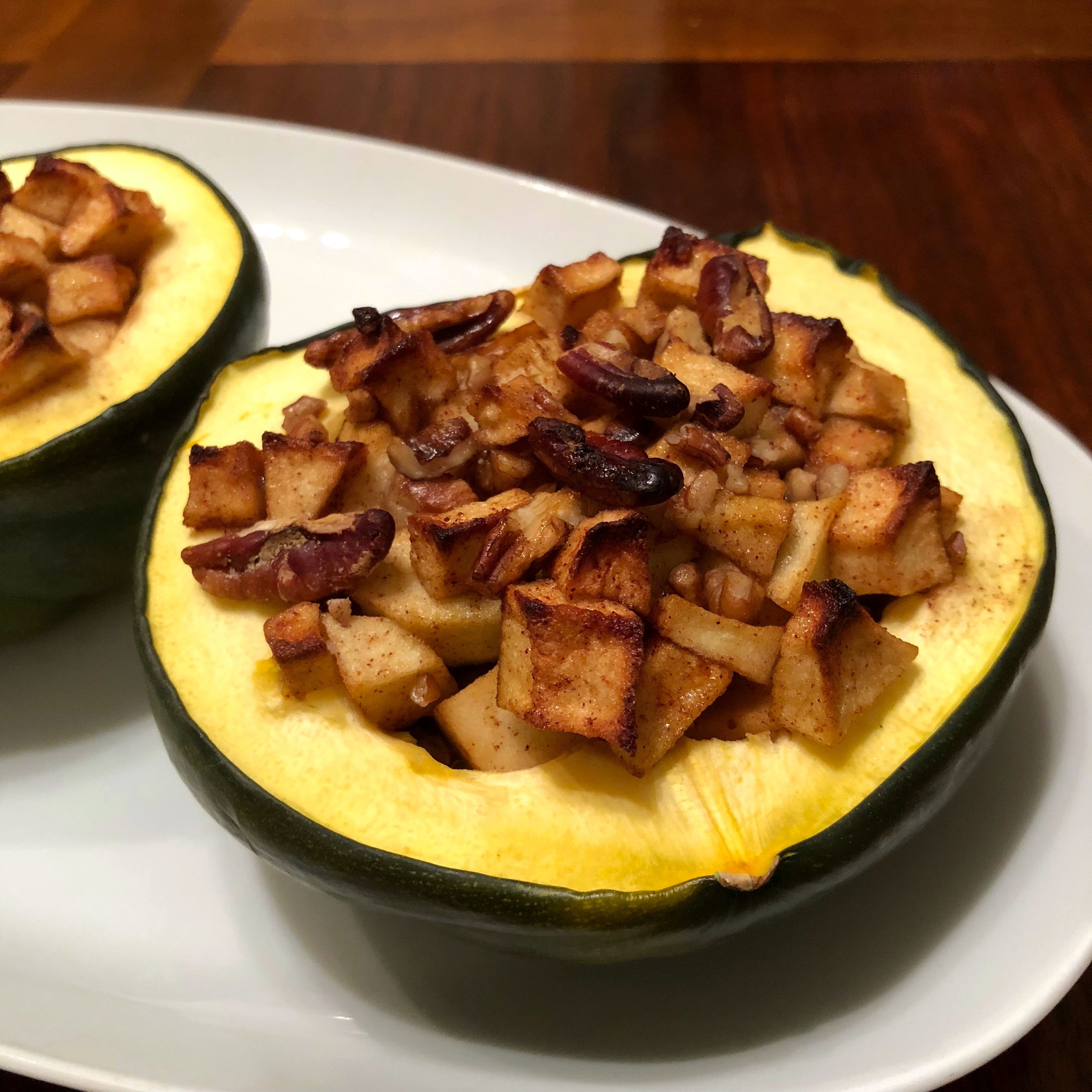 Buttercup Squash with Apples and Pecans Happyschmoopies