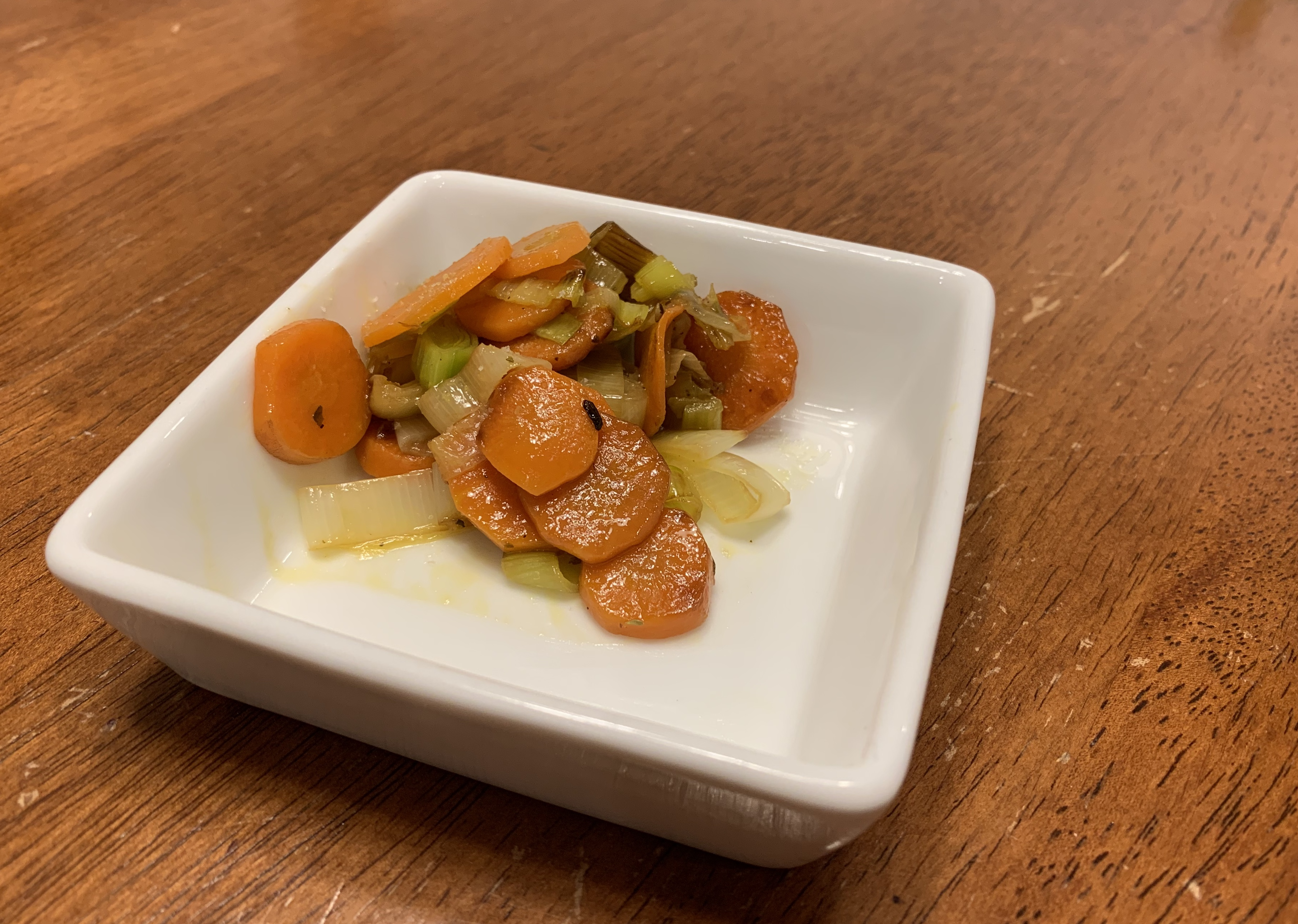 Sauteed Carrots and Leeks