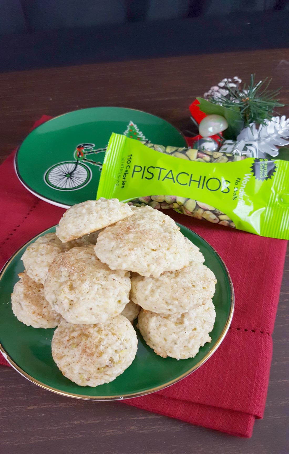 Pistachio and Coconut Cookies